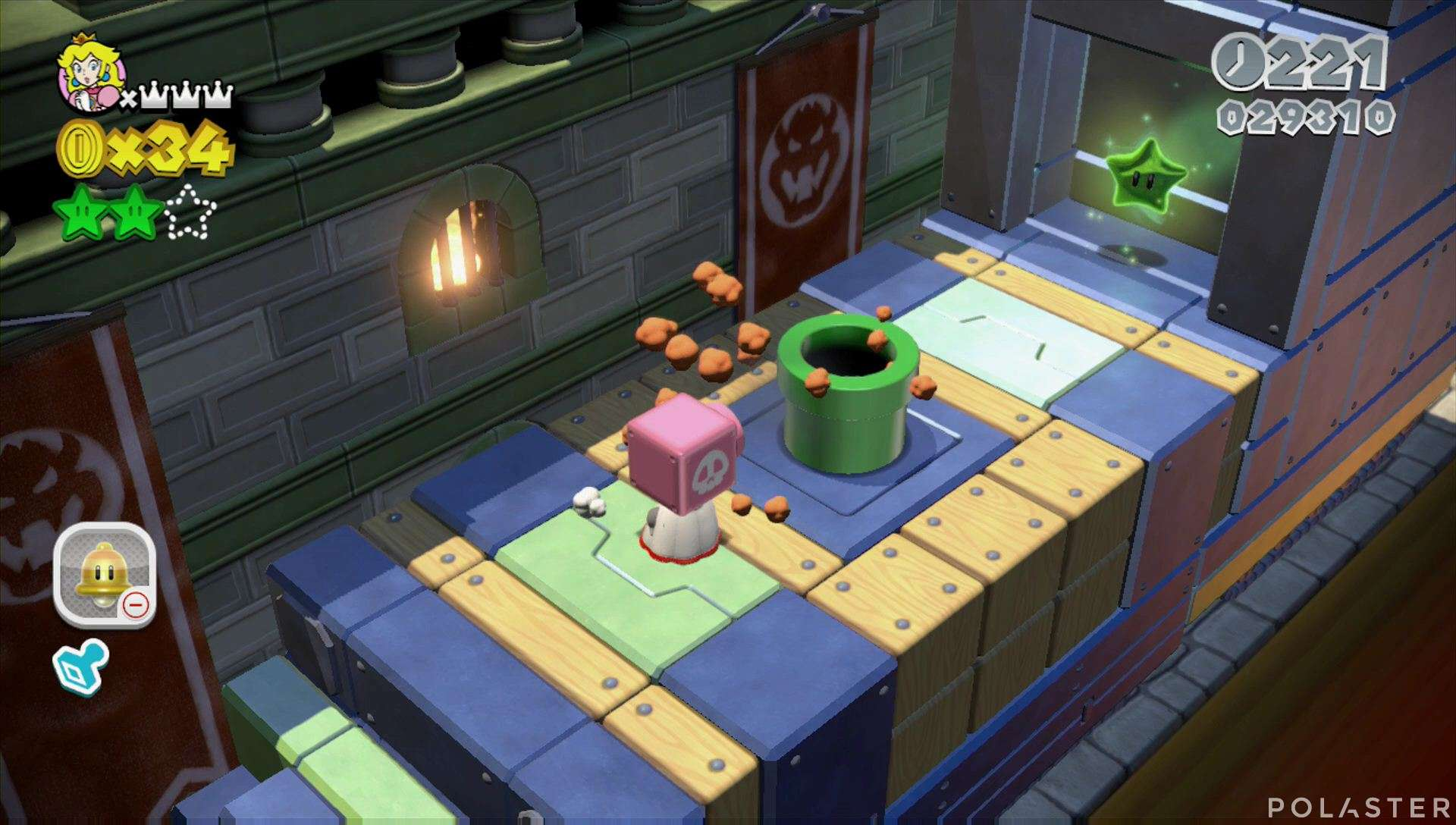 Super Mario 3D World Mundo 2-Castillo Estrella 3