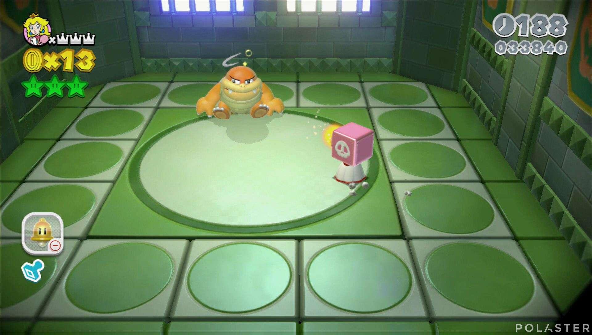 Super Mario 3D World Mundo 2-Castillo Jefe Bum Bum