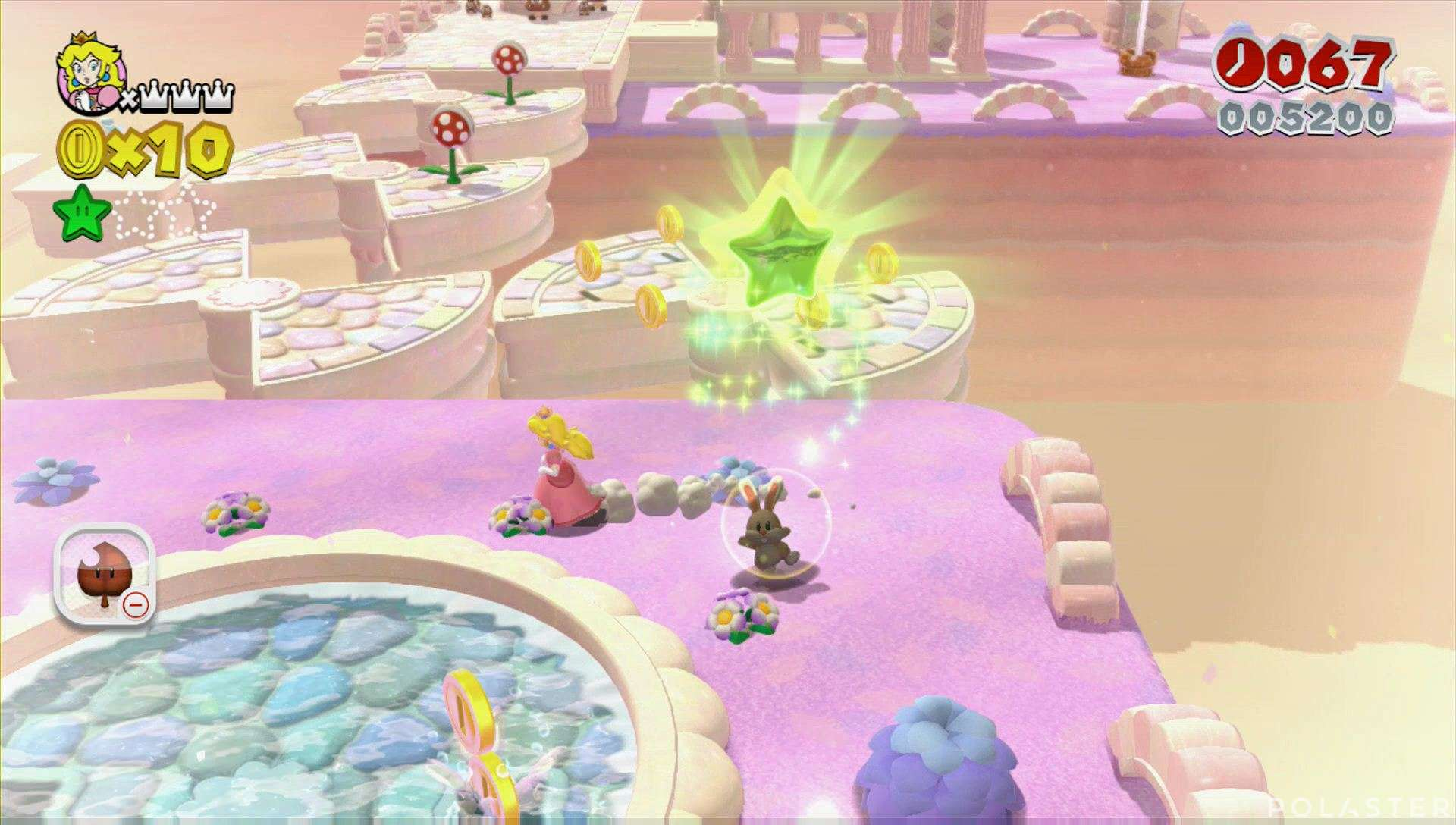 Super Mario 3D World Mundo 3-4 Estrella 2