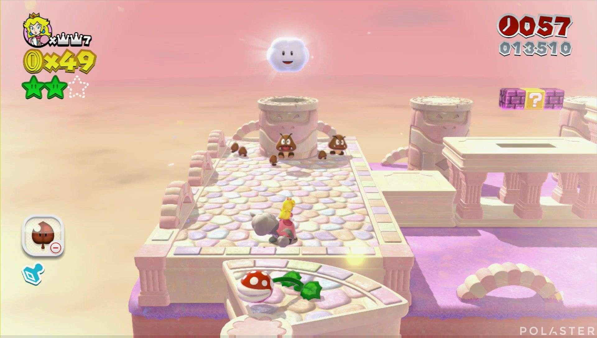 Super Mario 3D World Mundo 3-4 Estrella 3