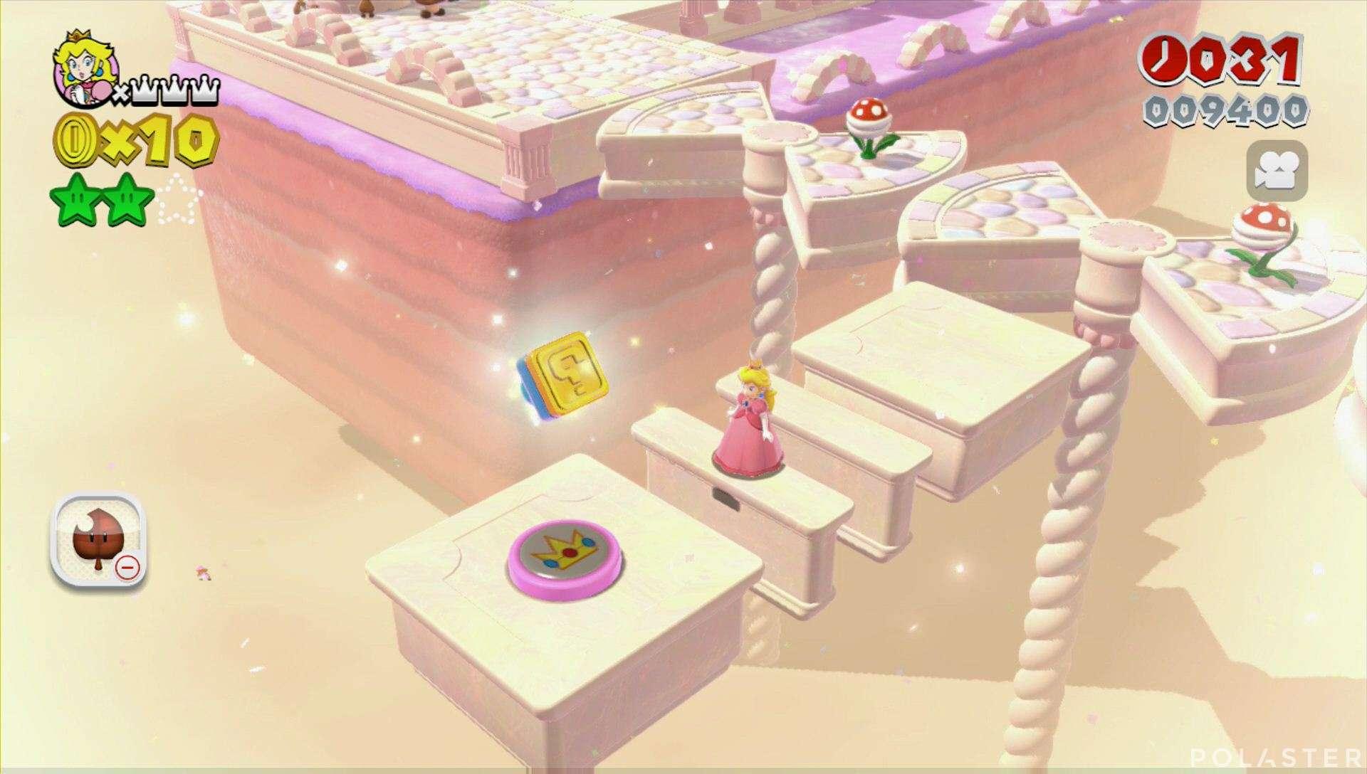 Super Mario 3D World Mundo 3-4 Sello