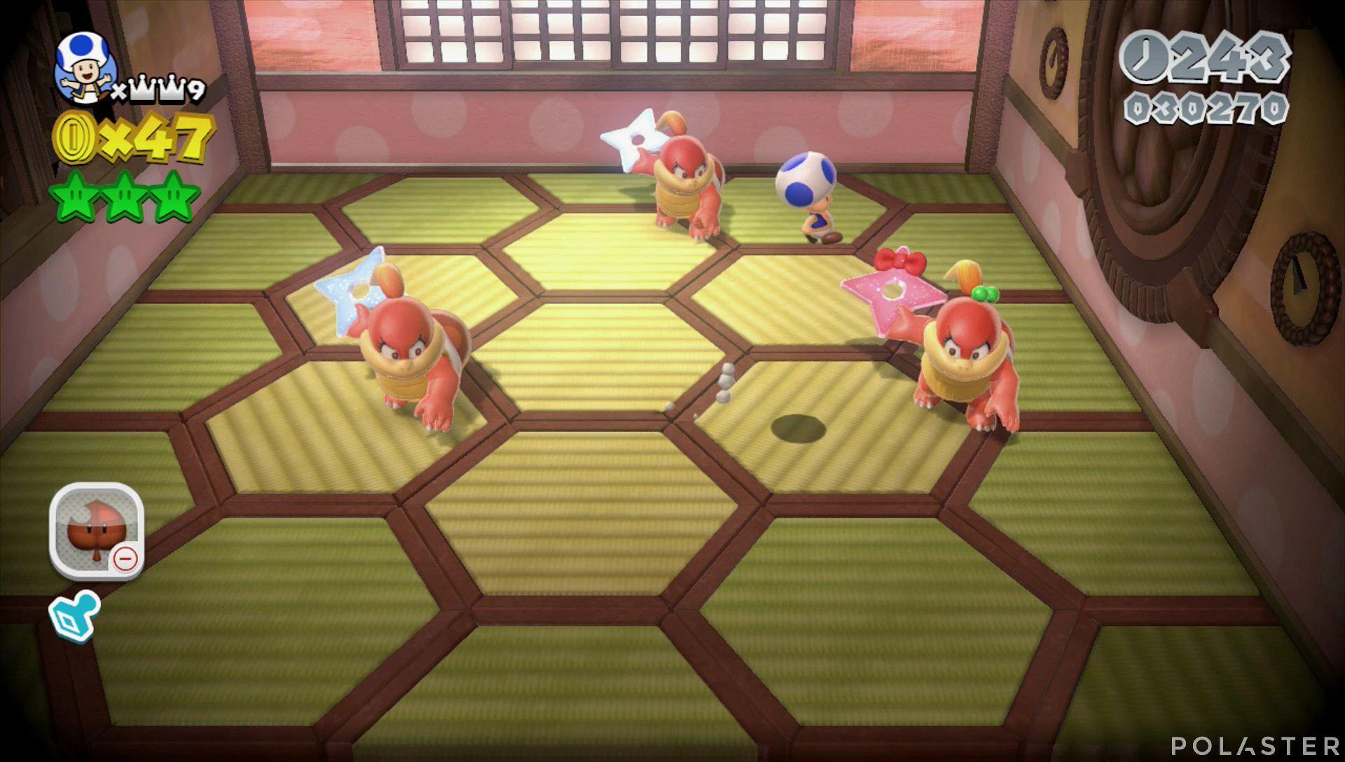 Super Mario 3D World Mundo 3-Castillo Jefe Pom Pom