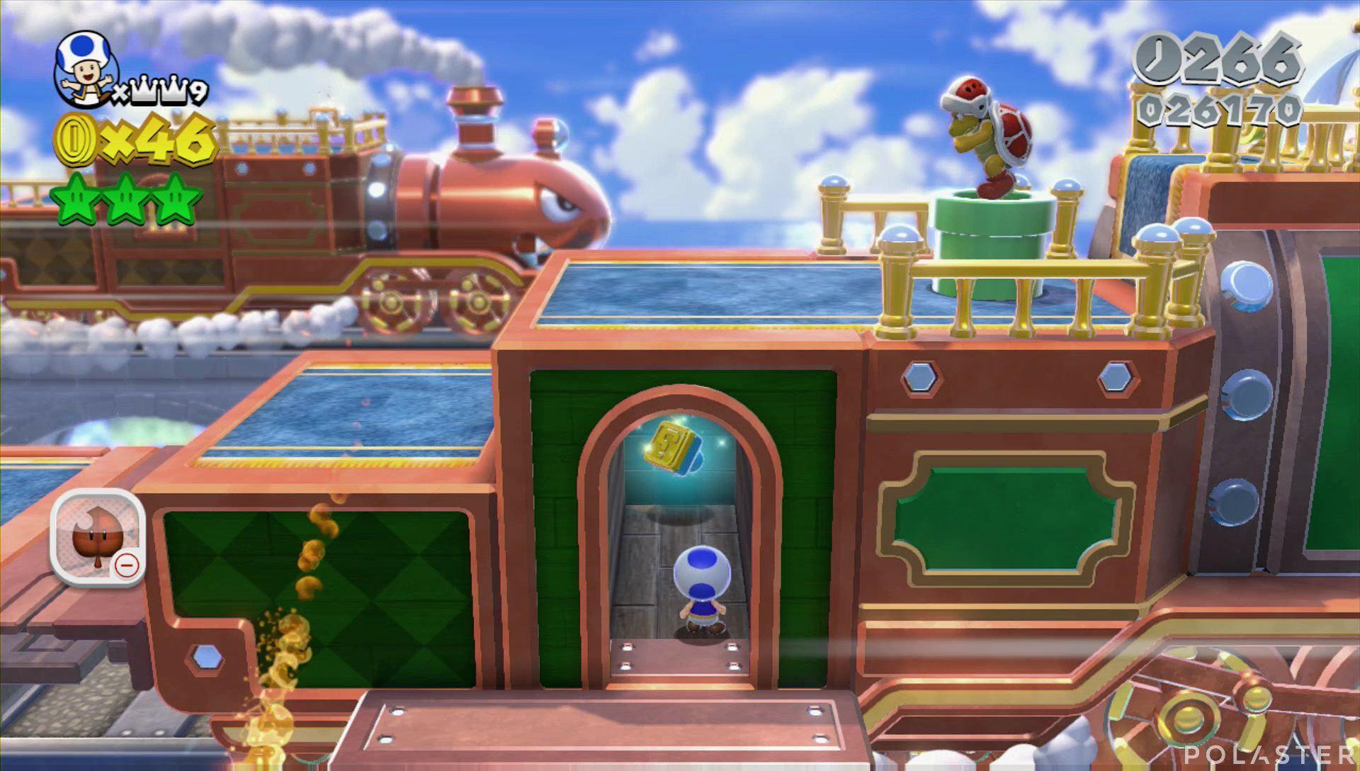 Super Mario 3D World Mundo 3-Castillo Sello