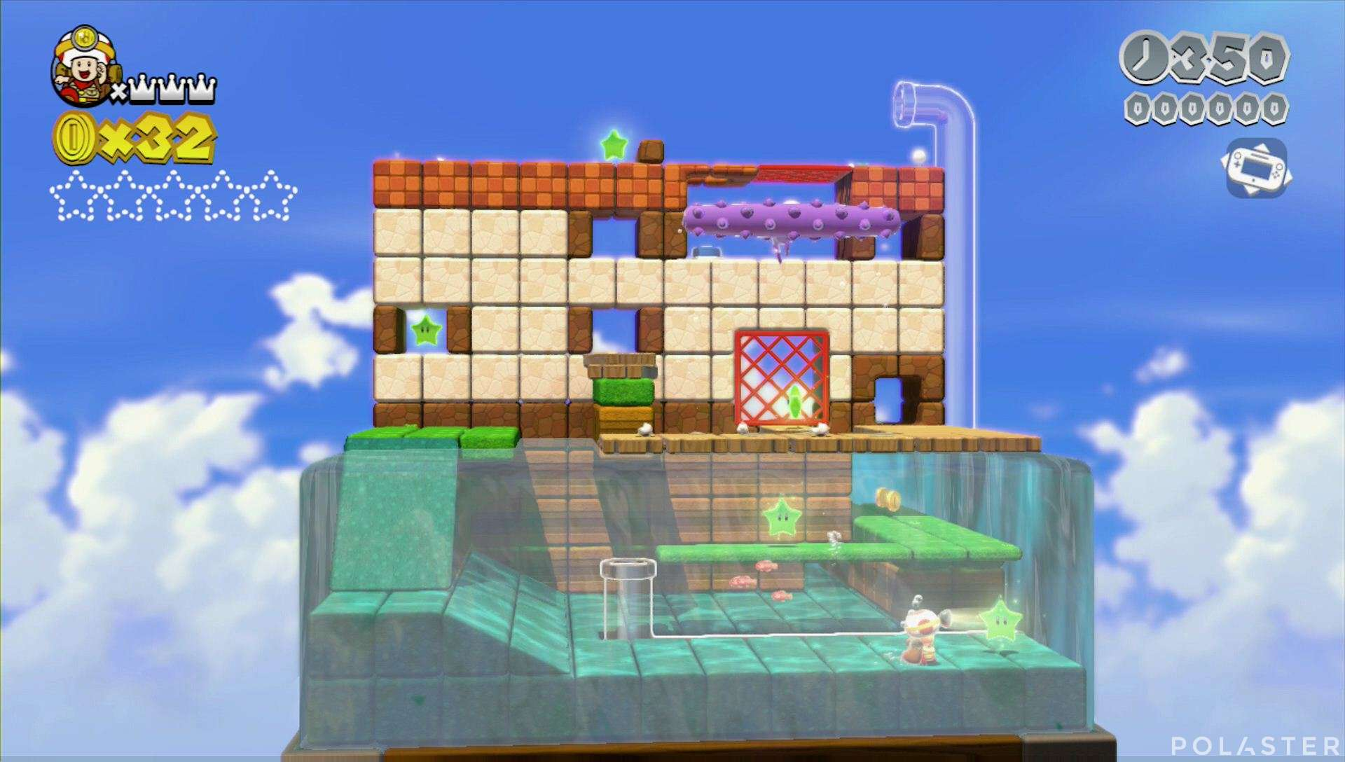 Super Mario 3D World Mundo 3-Toad Estrella 1