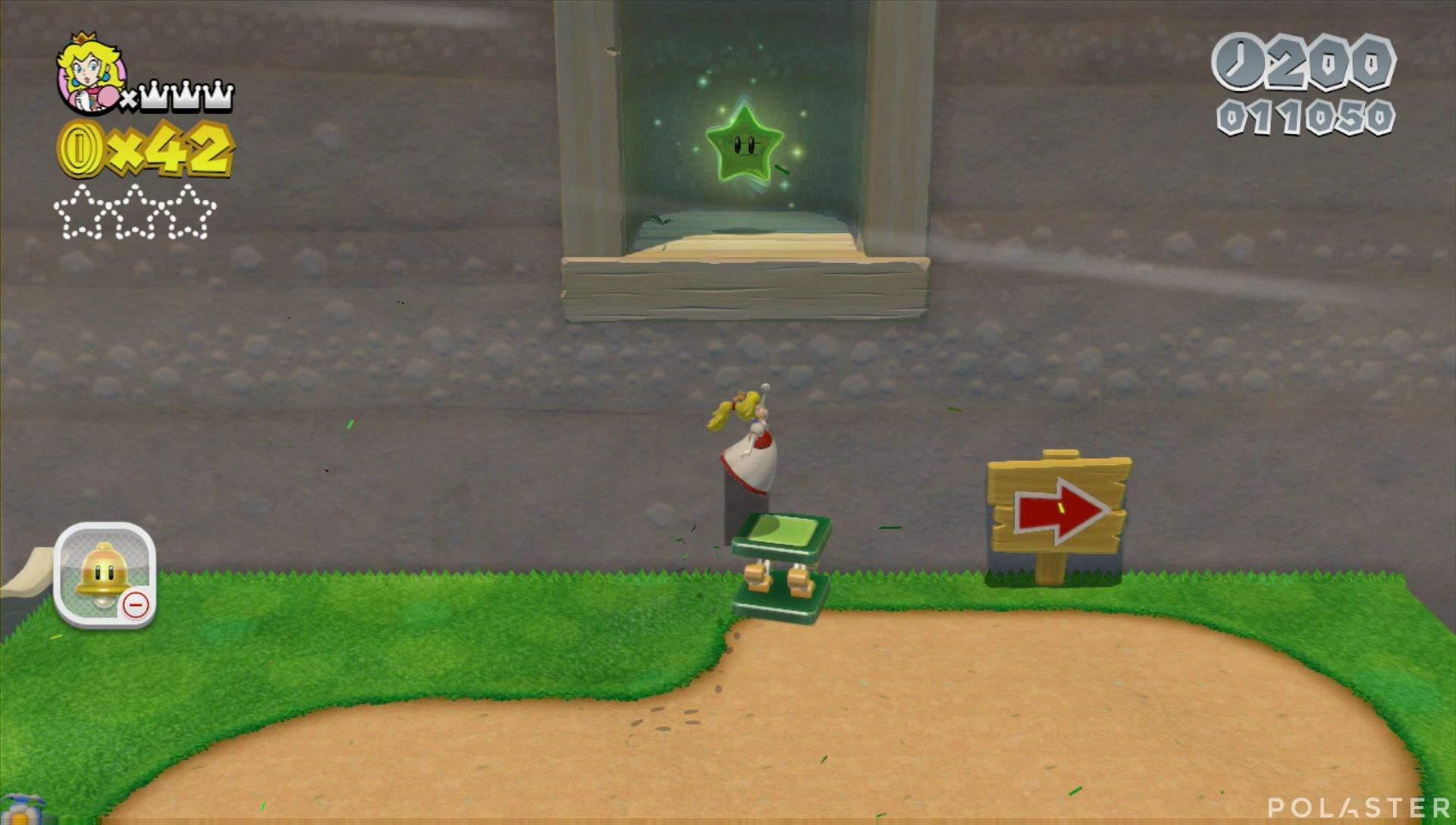 Super Mario 3D World Mundo 4-4 Estrella 1