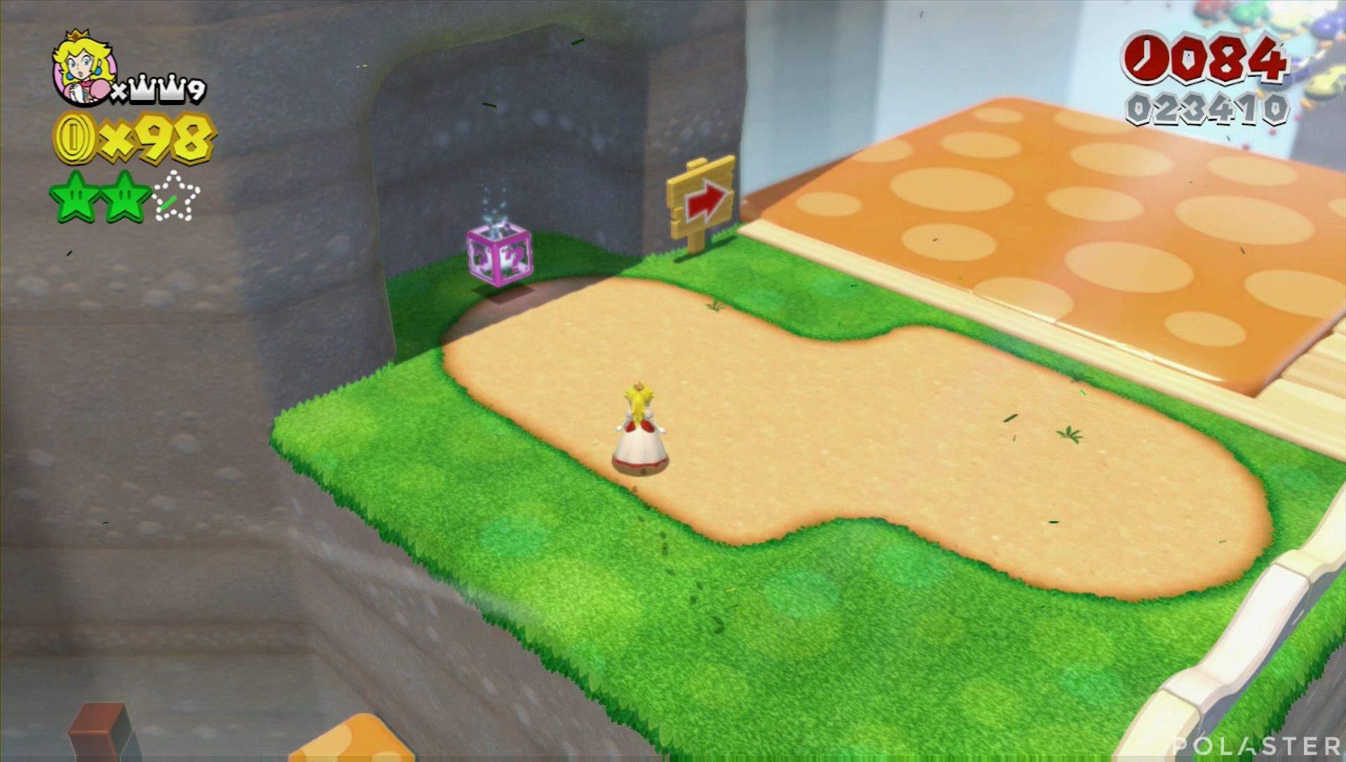 Super Mario 3D World Mundo 4-4 Estrella 3
