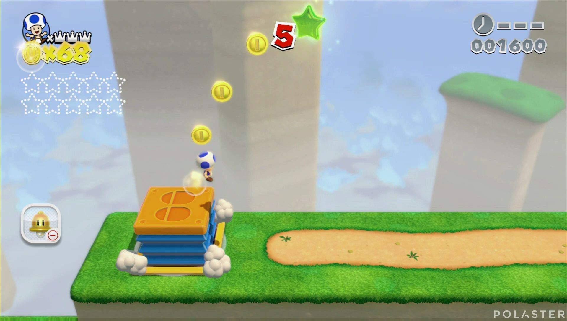Super Mario 3D World Mundo 4-Misterio Estrella 1