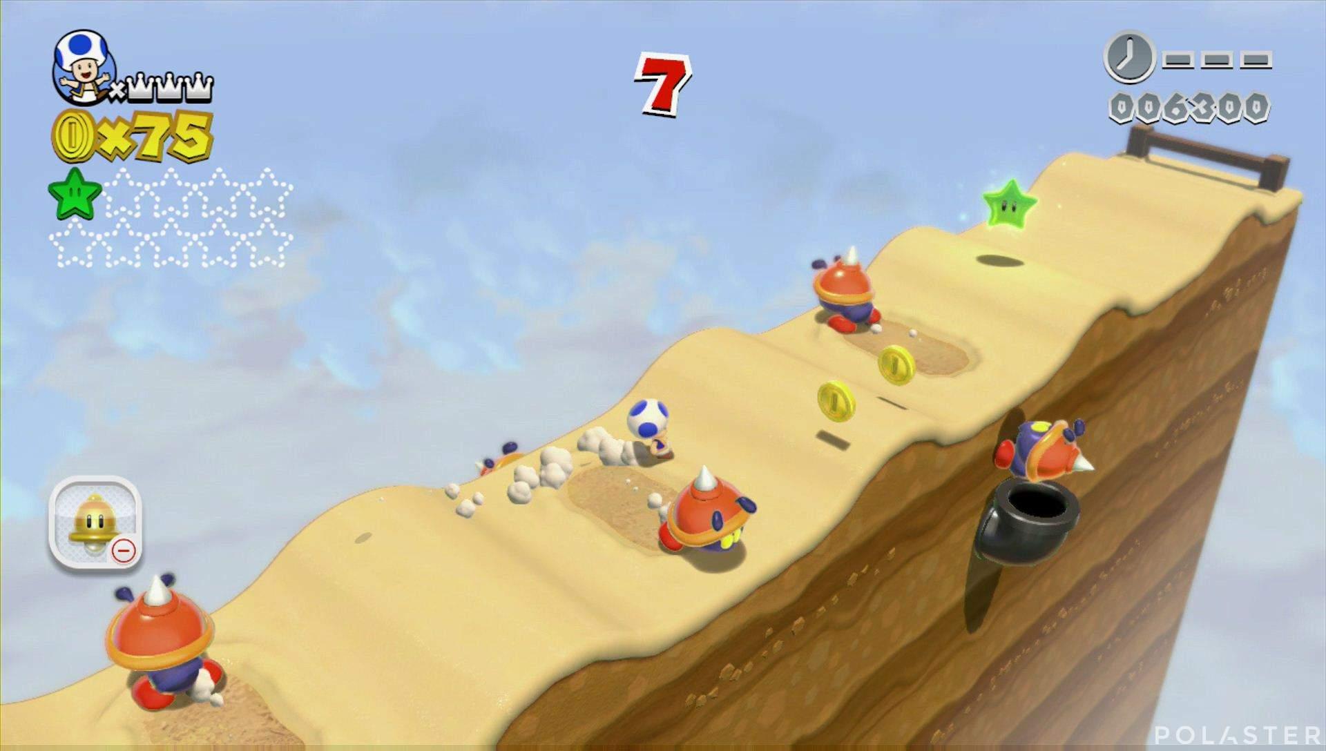 Super Mario 3D World Mundo 4-Misterio Estrella 2
