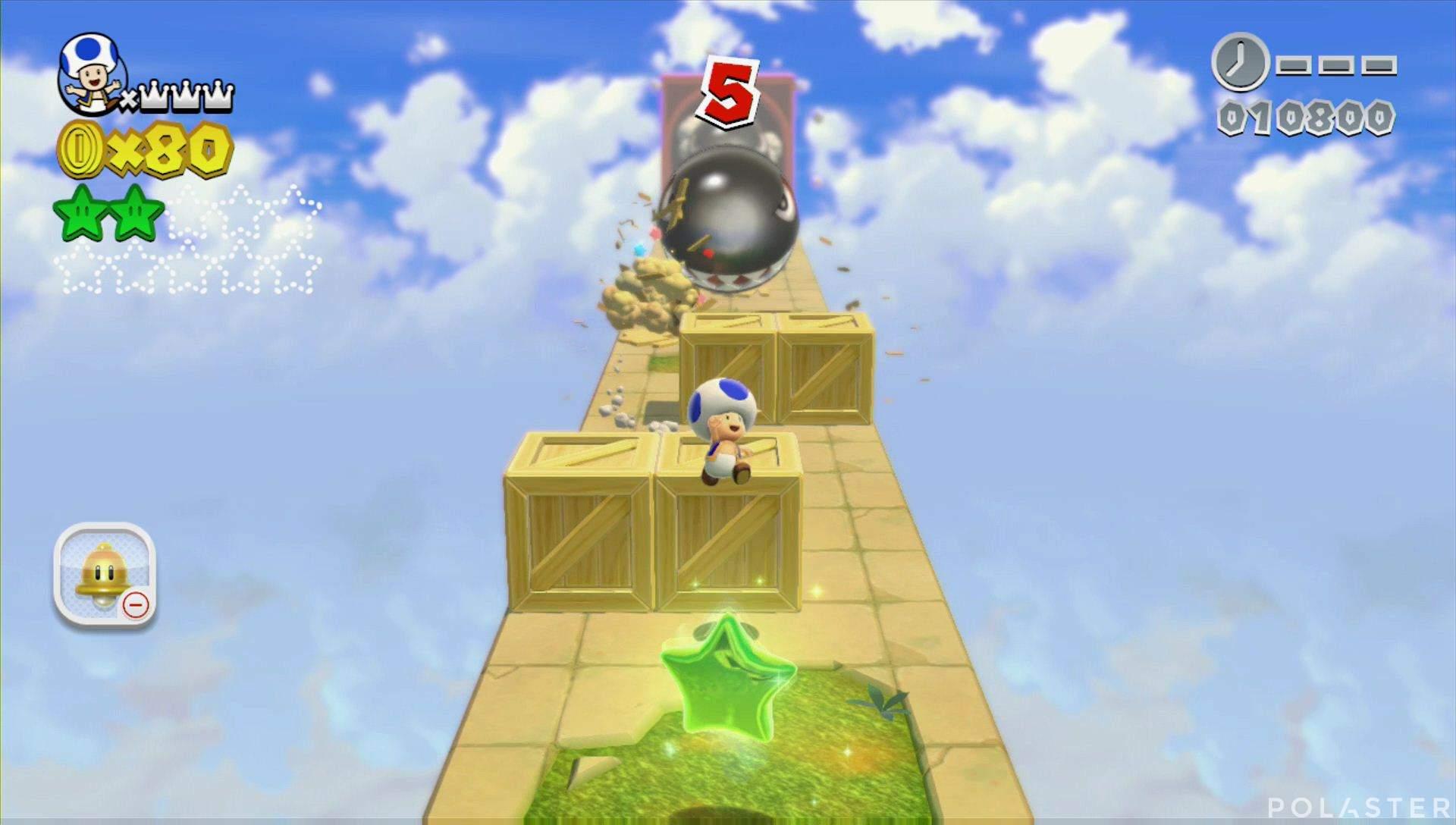 Super Mario 3D World Mundo 4-Misterio Estrella 3