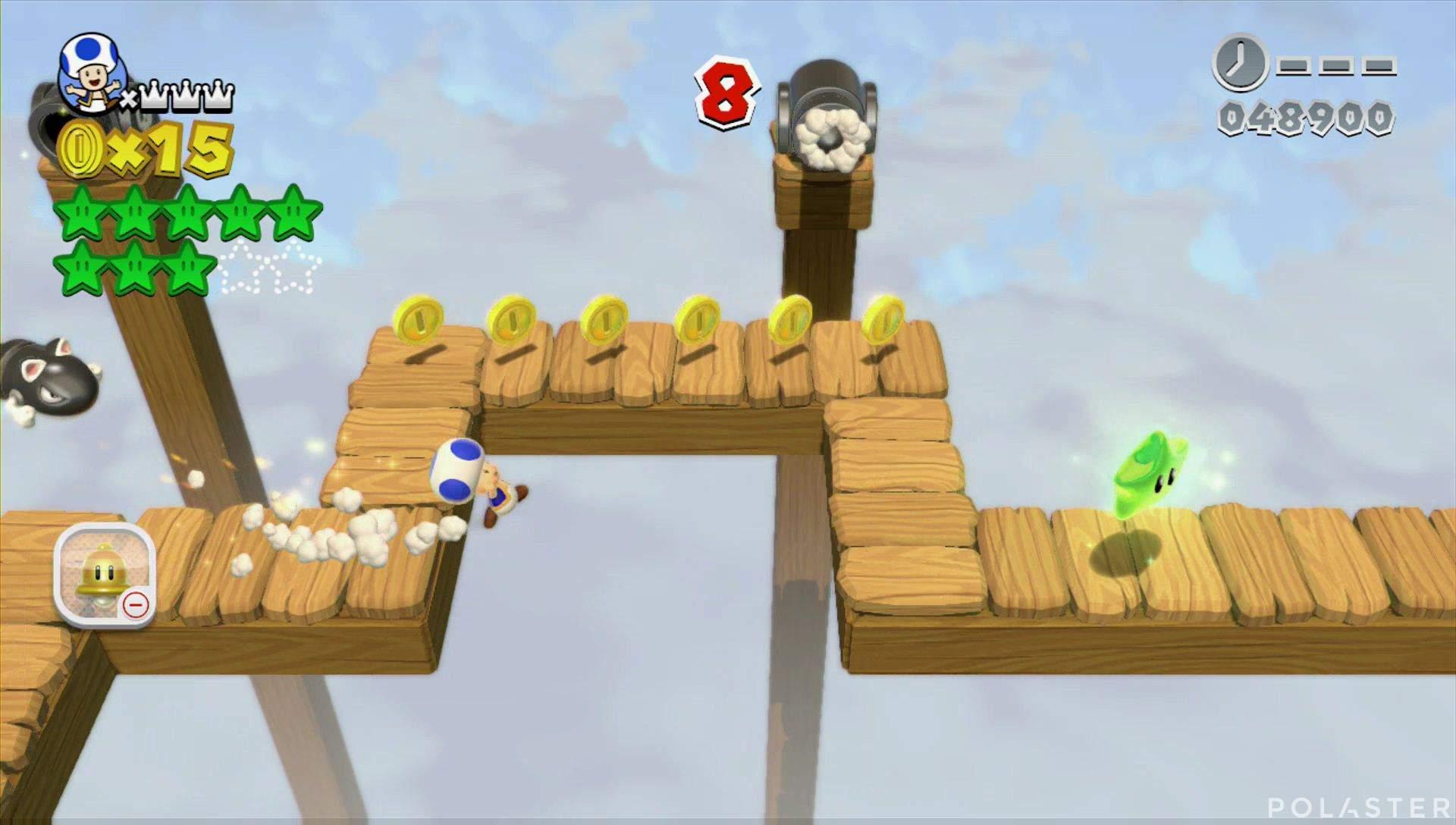 Super Mario 3D World Mundo 4-Misterio Estrella 9