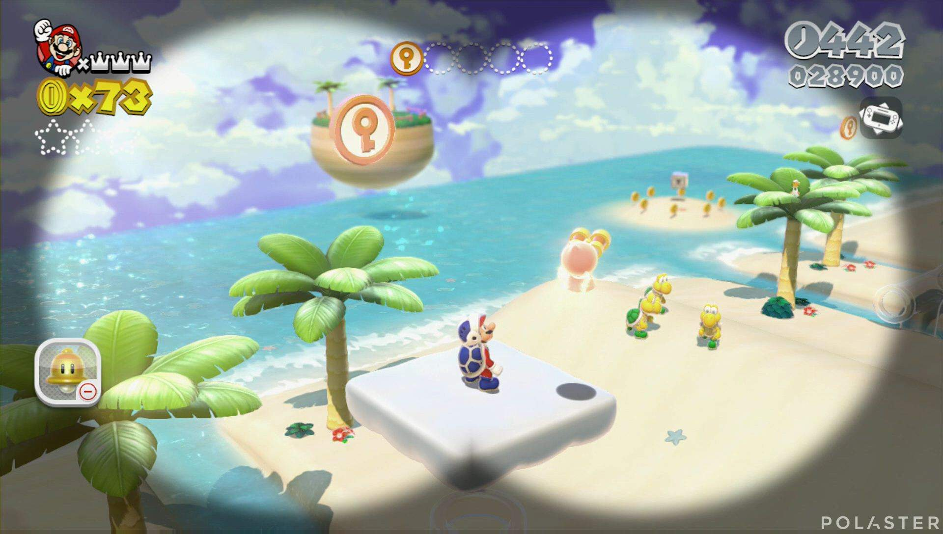 Super Mario 3D World Mundo 5-1 Moneda llave
