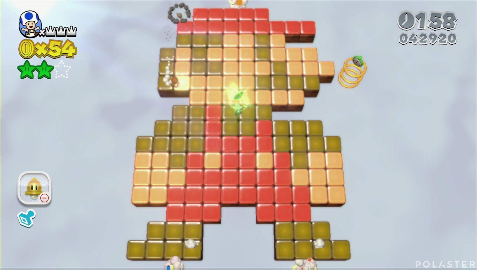 Super Mario 3D World Mundo 5-5 Estrella 3
