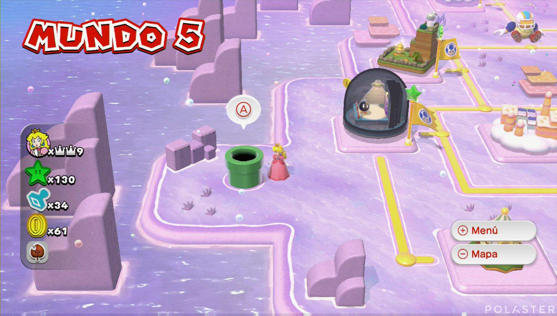 Super Mario 3D World Mundo 5-B Acceso