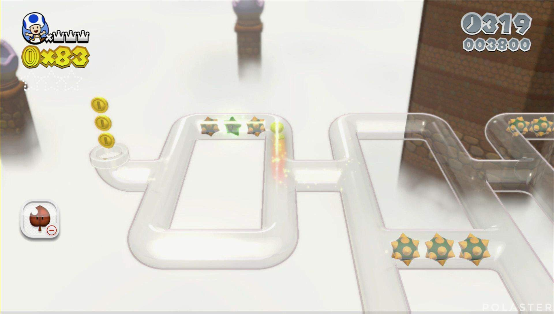 Super Mario 3D World Mundo 6-1 Estrella 1