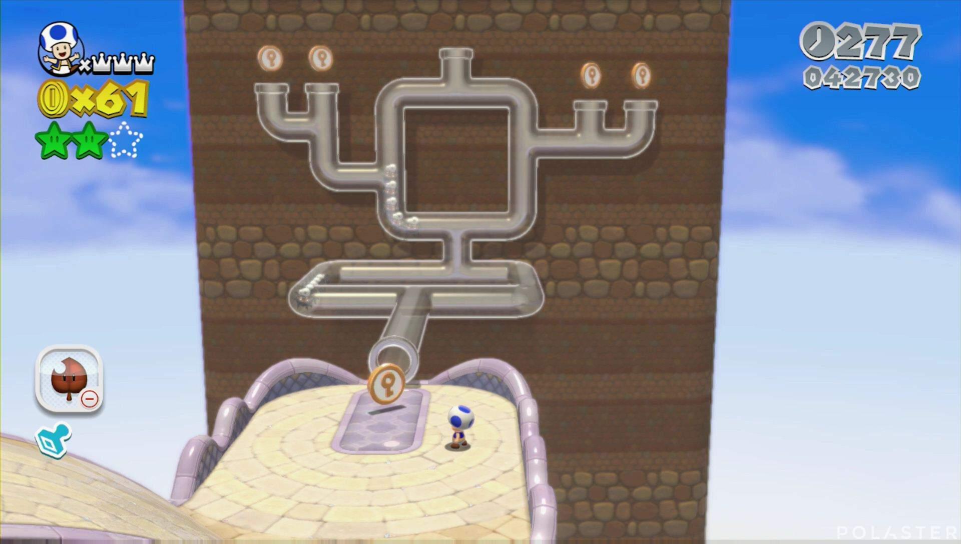 Super Mario 3D World Mundo 6-1 Monedas llave
