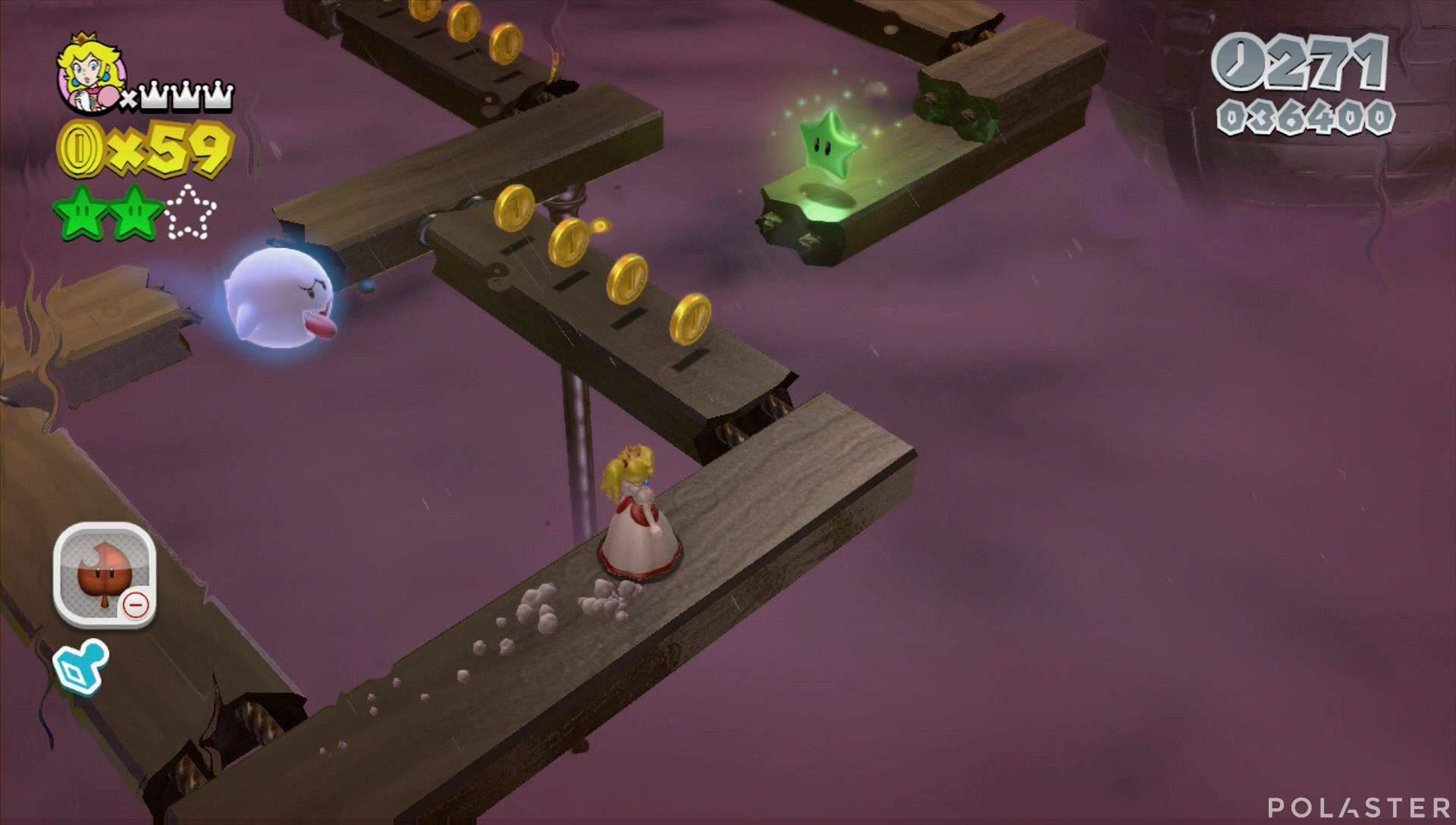 Super Mario 3D World Mundo 6-2 Estrella 3
