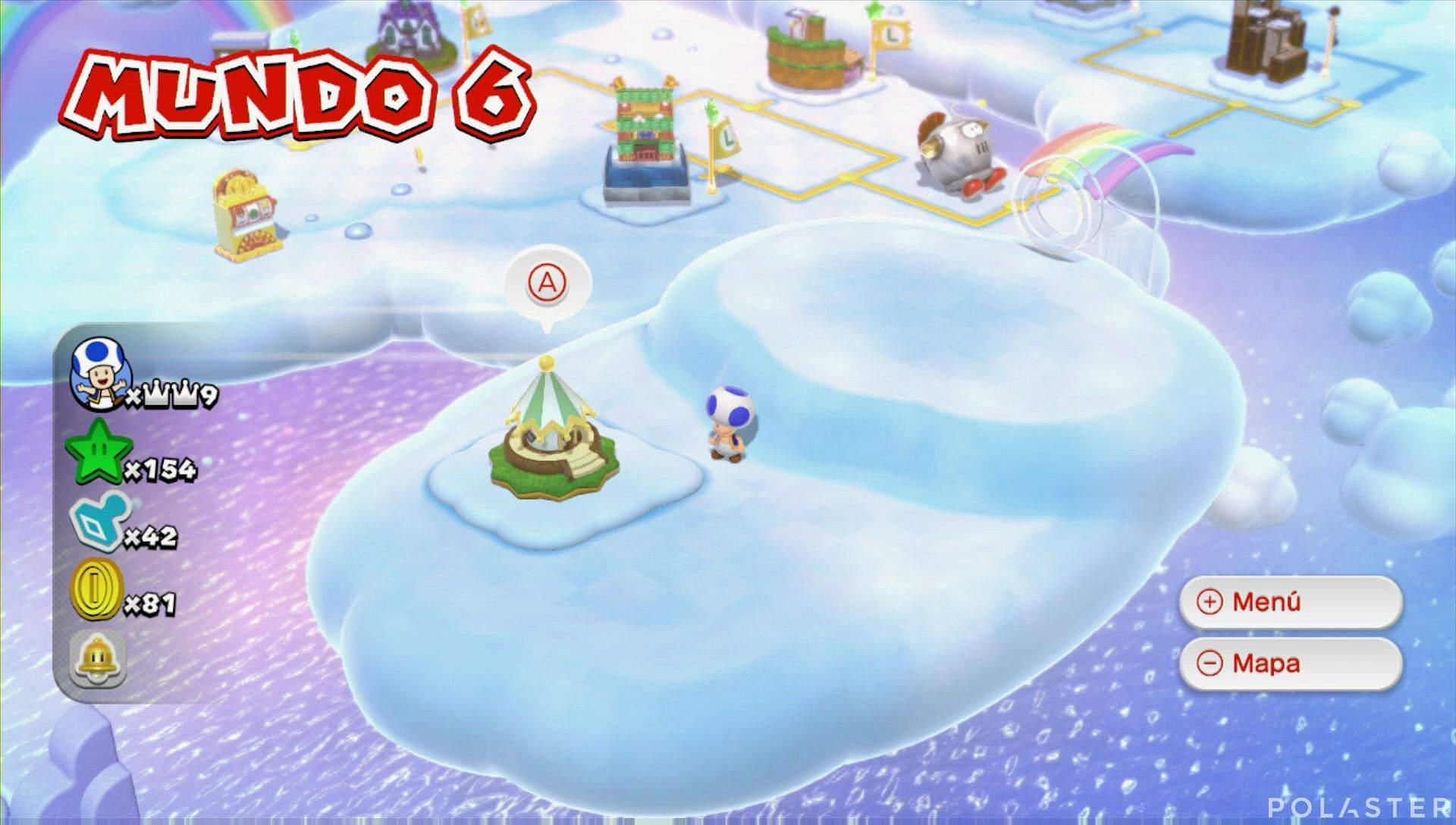 Super Mario 3D World Mundo 6 Casa Hada
