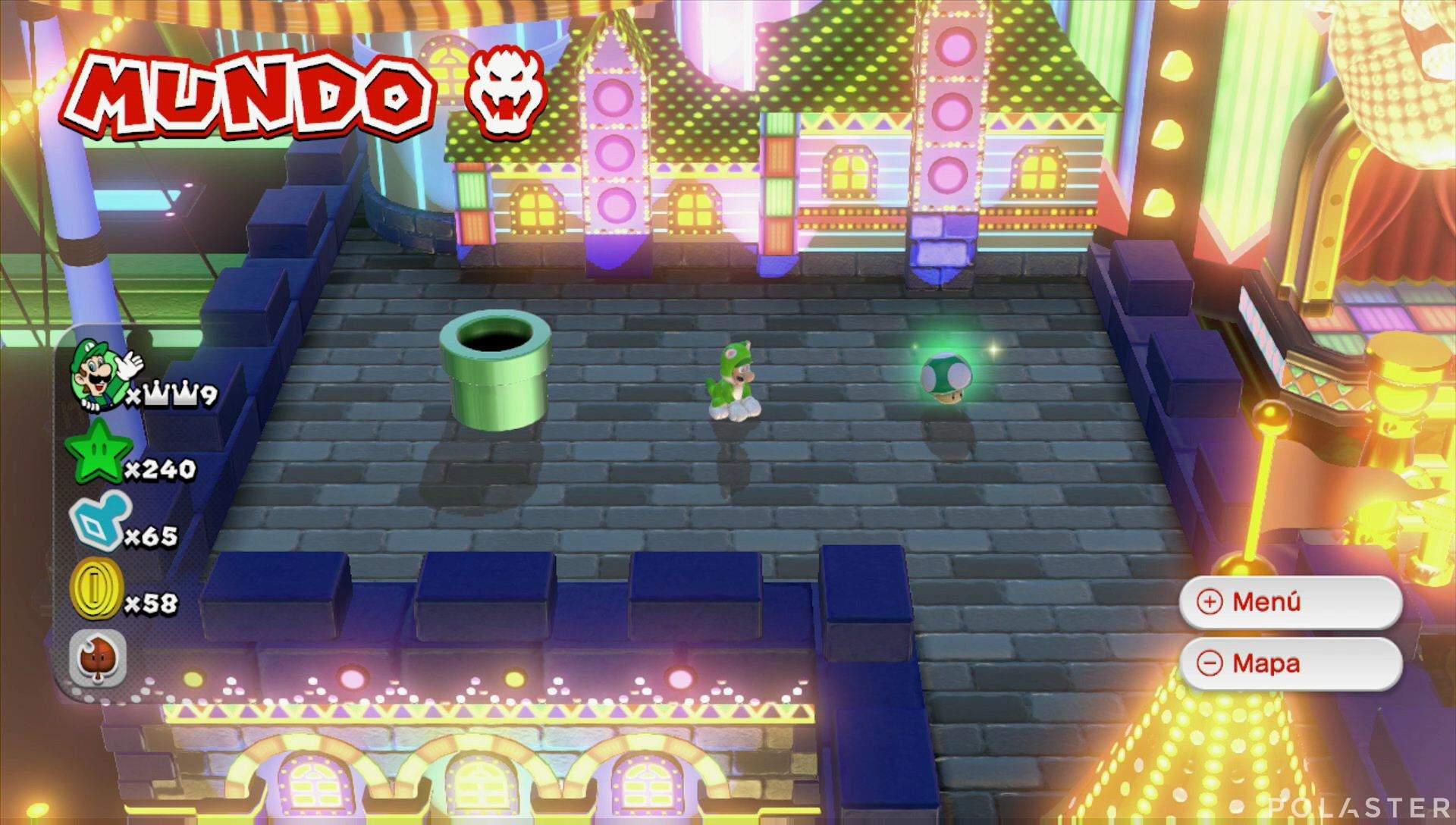 Super Mario 3D World Mundo Bowser Vida extra