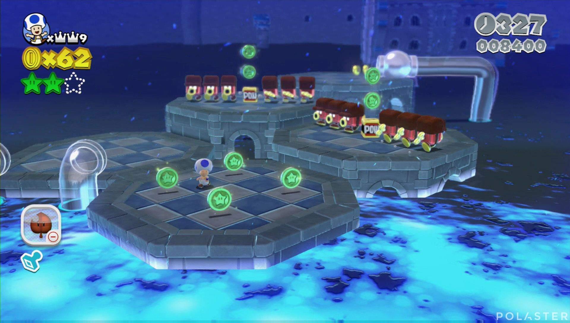 Super Mario 3D World Mundo Castillo-1 Estrella 3