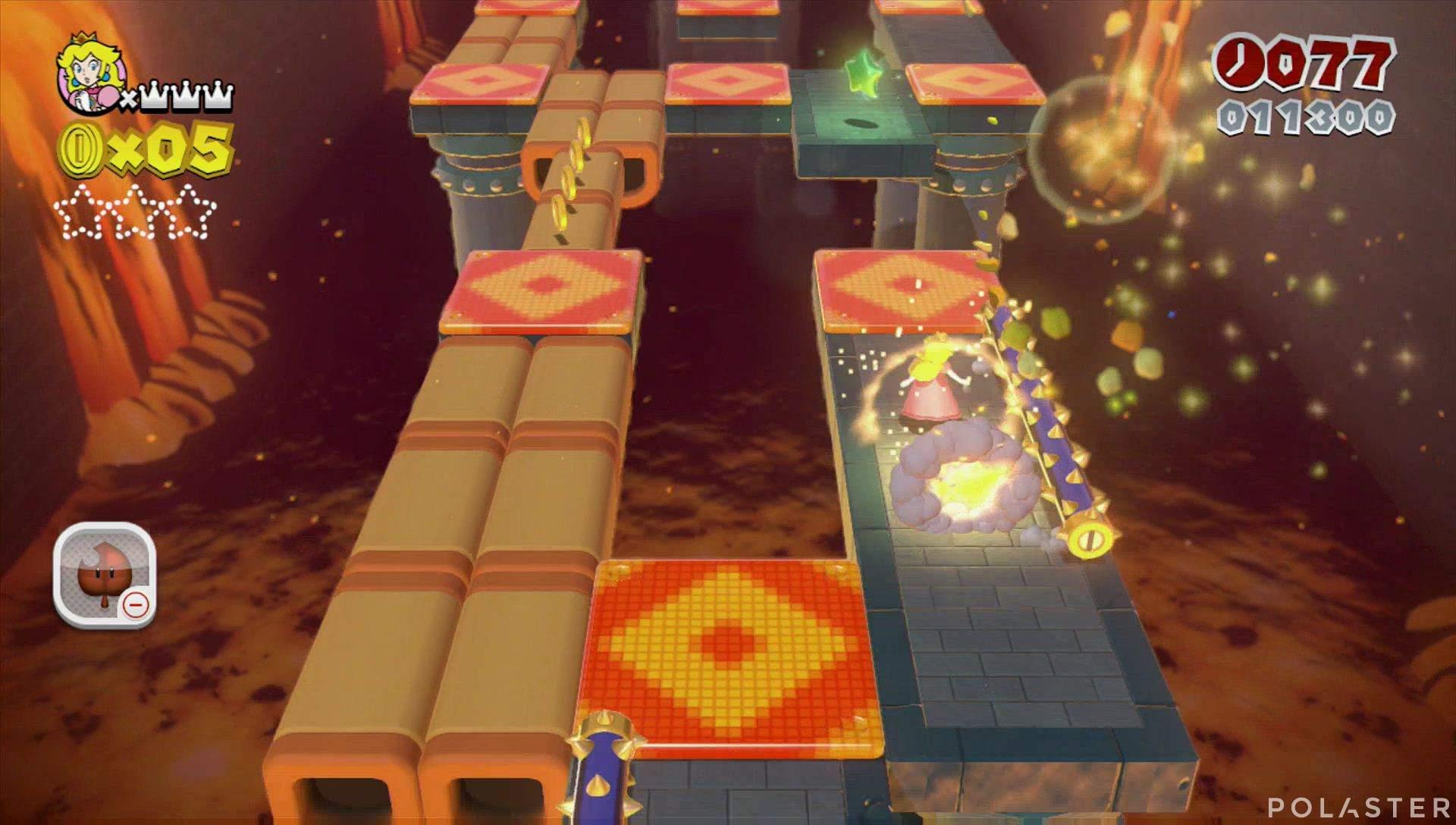Super Mario 3D World Mundo Castillo-3 Estrella 1