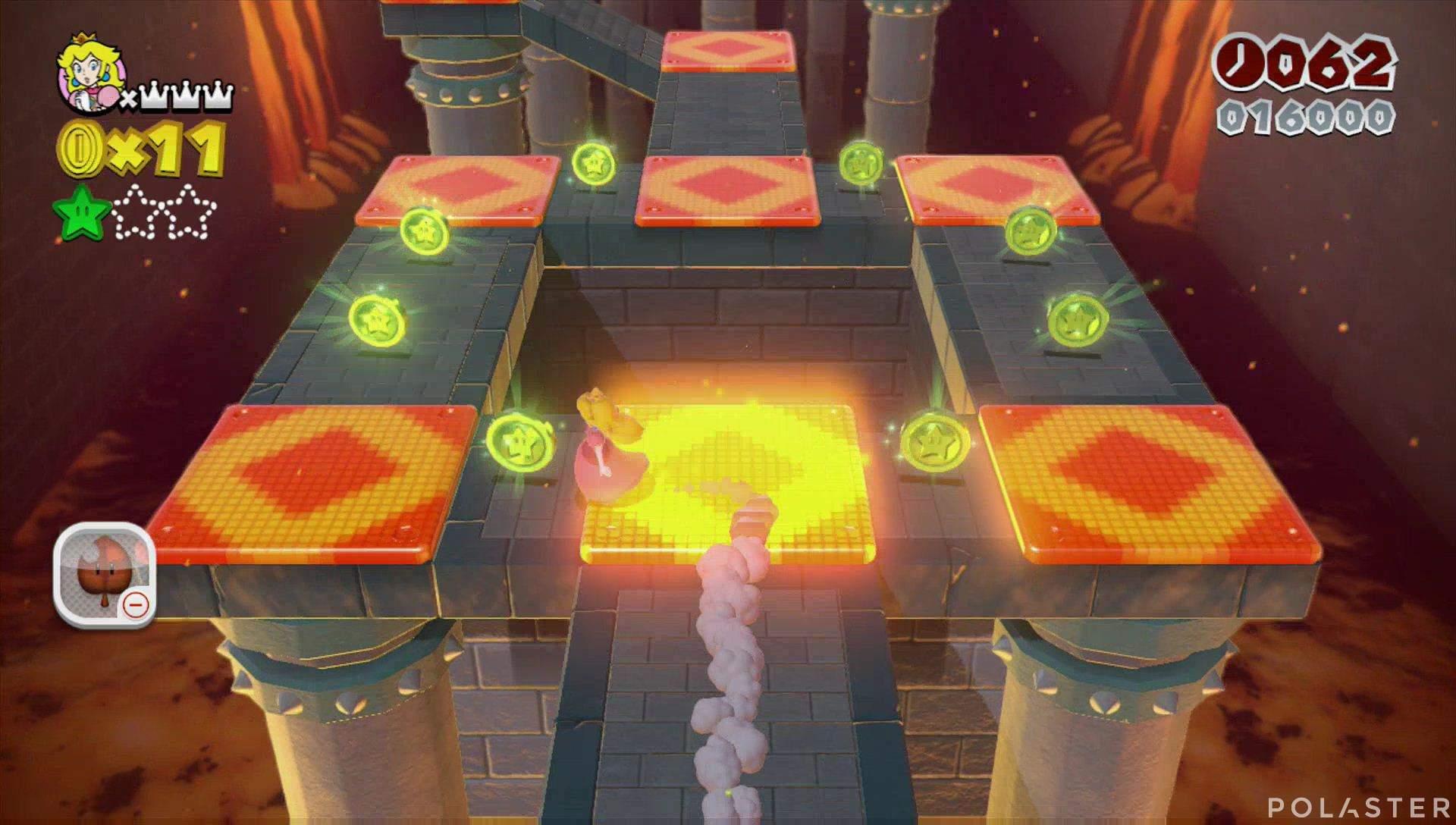 Super Mario 3D World Mundo Castillo-3 Estrella 2