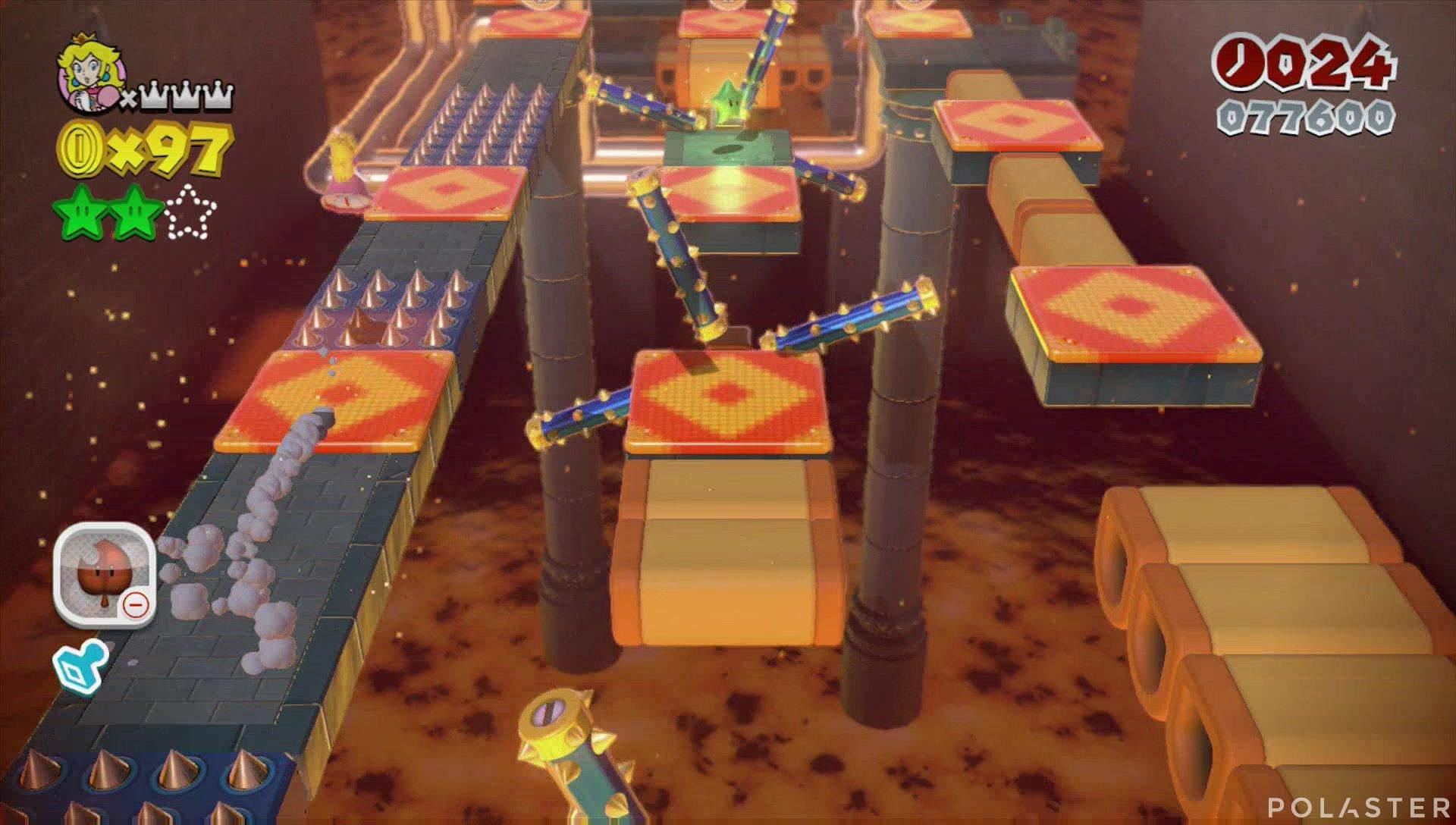 Super Mario 3D World Mundo Castillo-3 Estrella 3