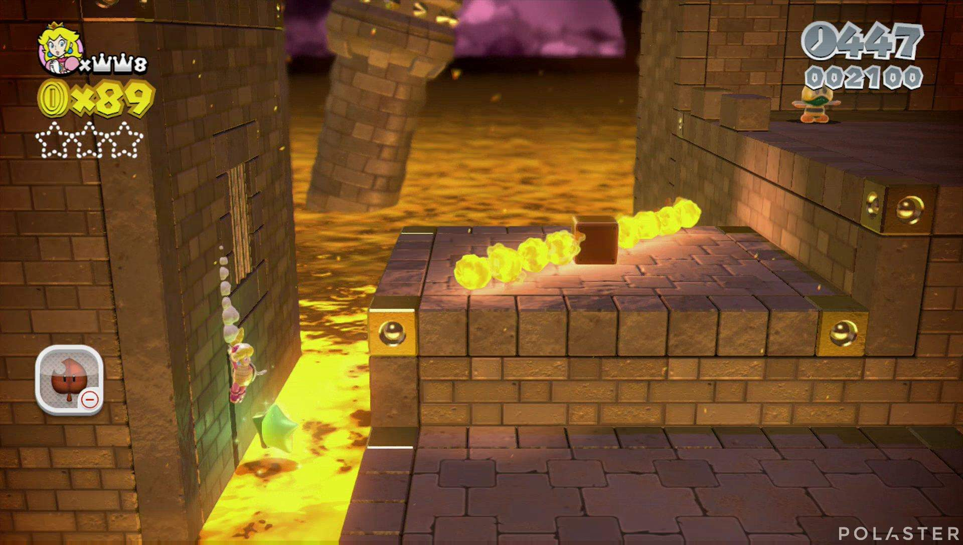 Super Mario 3D World Mundo Castillo-Castillo Estrella 1