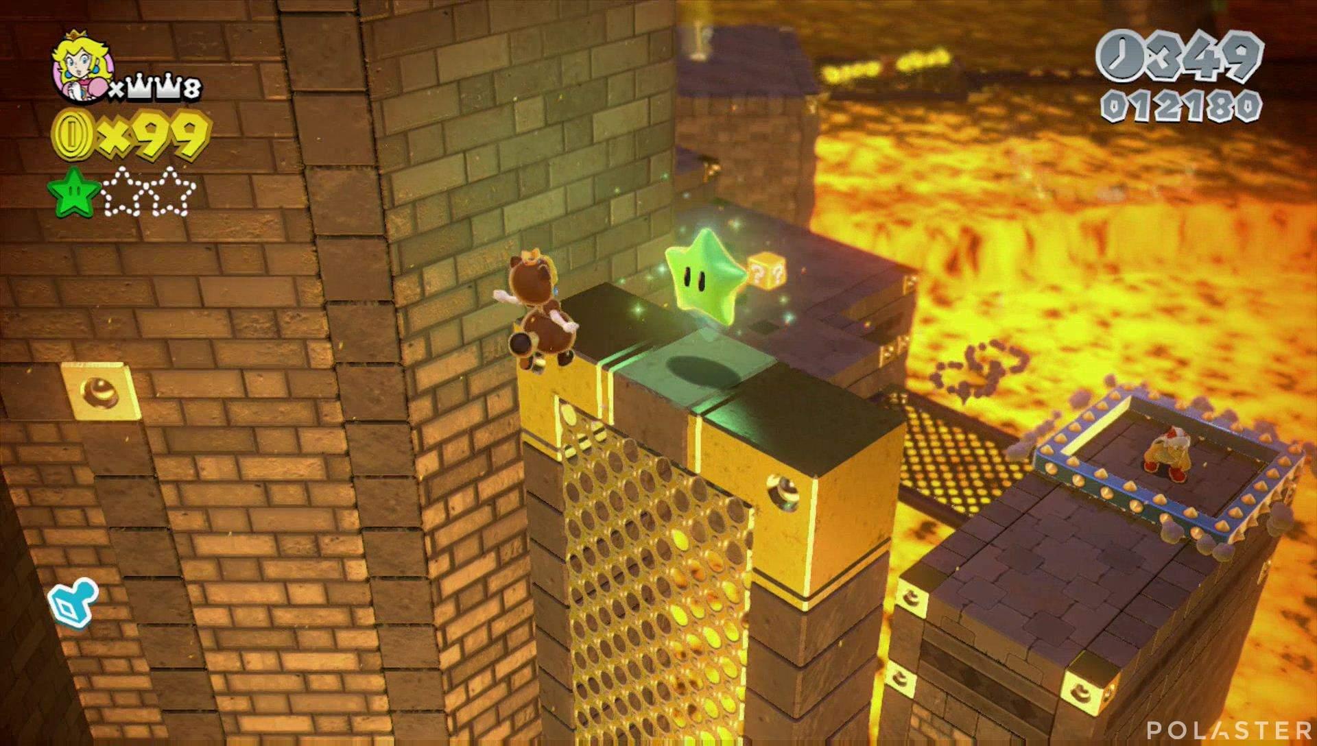 Super Mario 3D World Mundo Castillo-Castillo Estrella 2