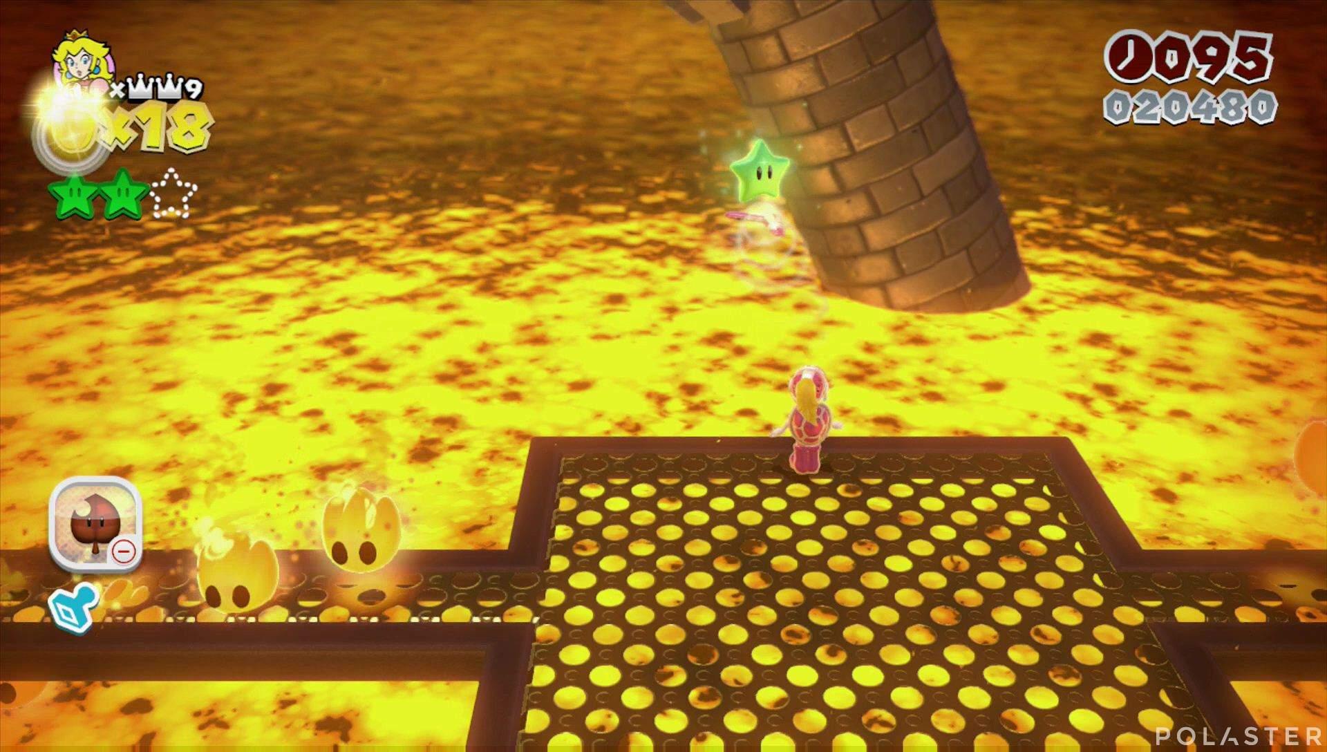 Super Mario 3D World Mundo Castillo-Castillo Estrella 3