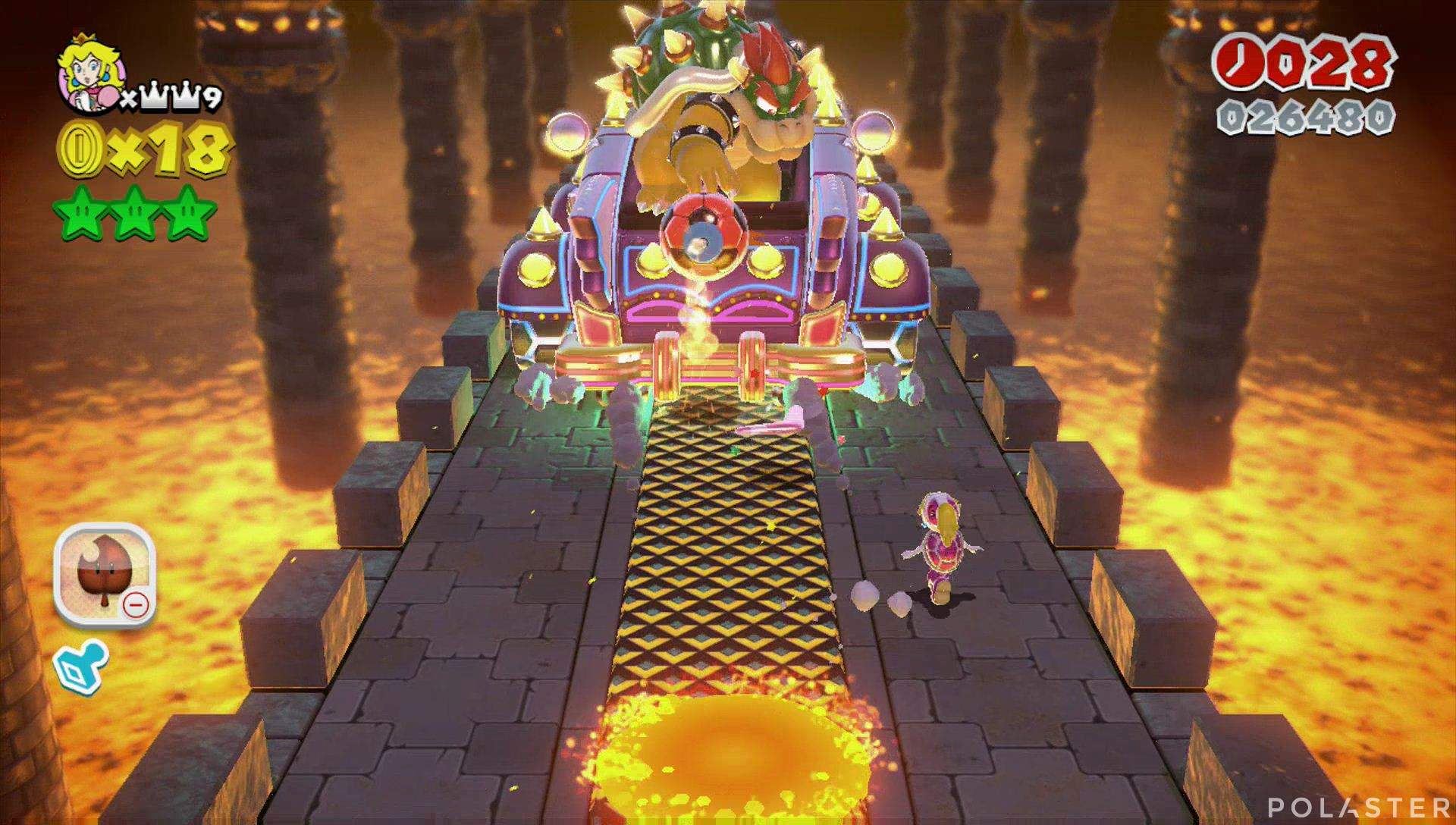 Super Mario 3D World Mundo Castillo-Castillo Jefe Bowser
