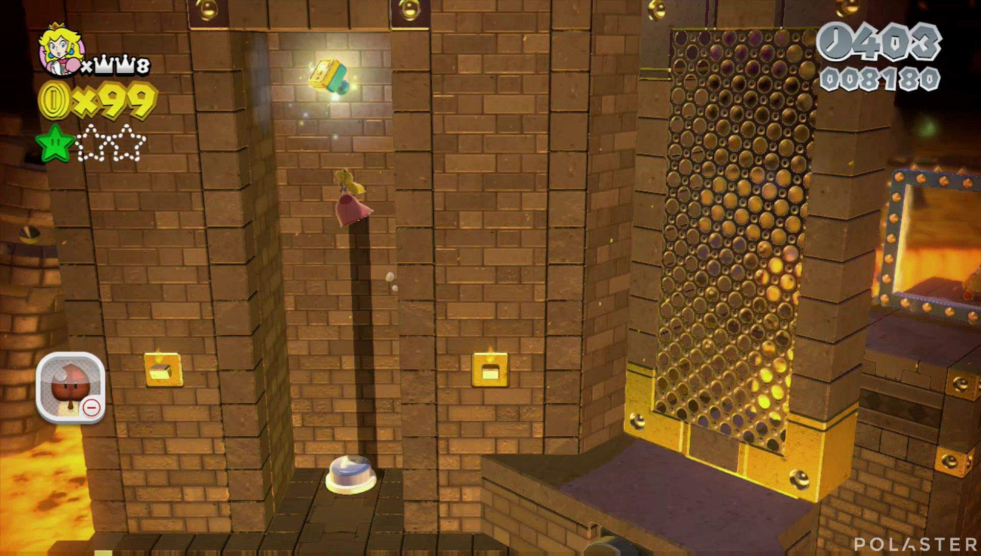 Super Mario 3D World Mundo Castillo-Castillo Sello