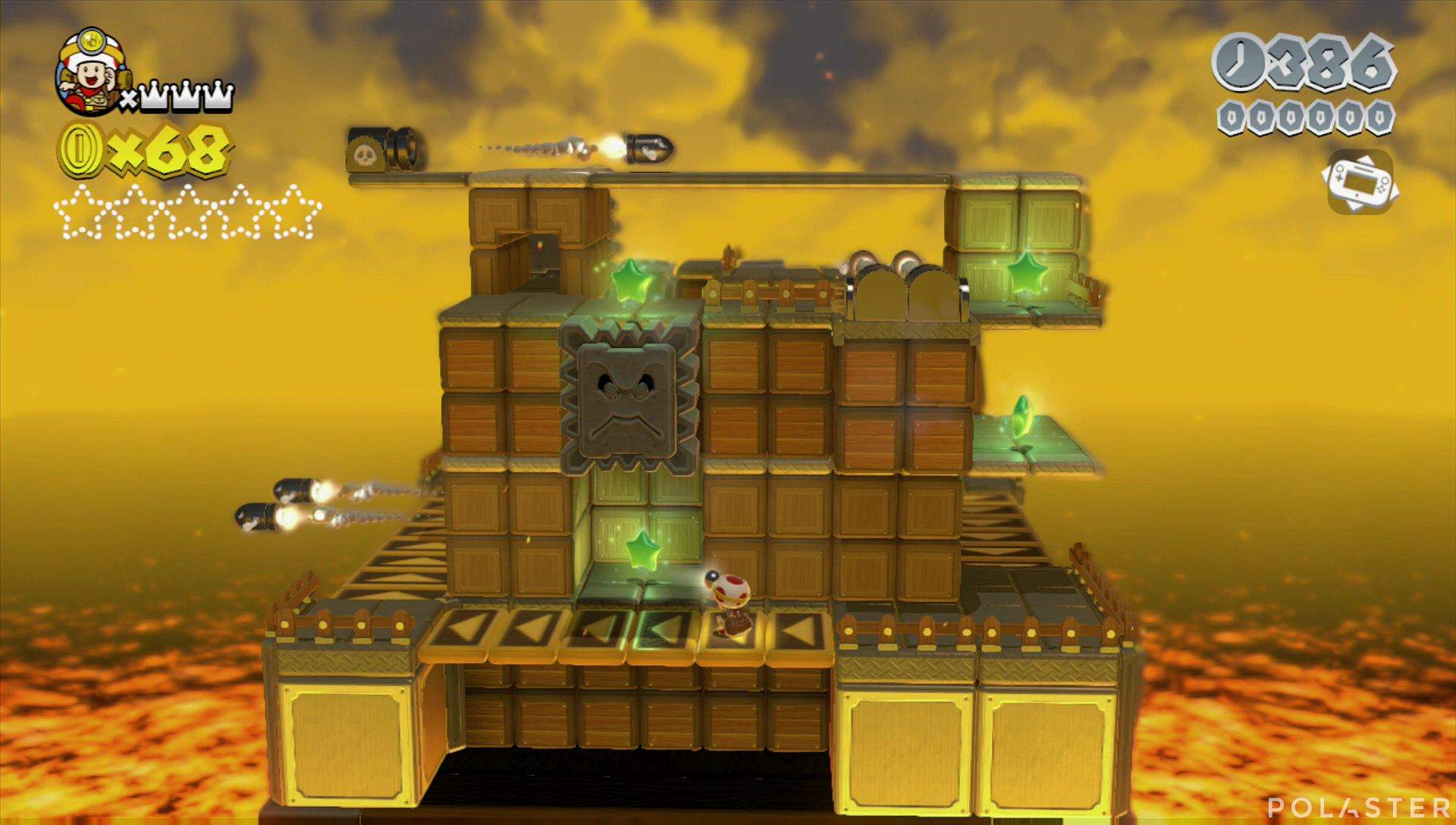 Super Mario 3D World Mundo Castillo-Toad Estrella 1