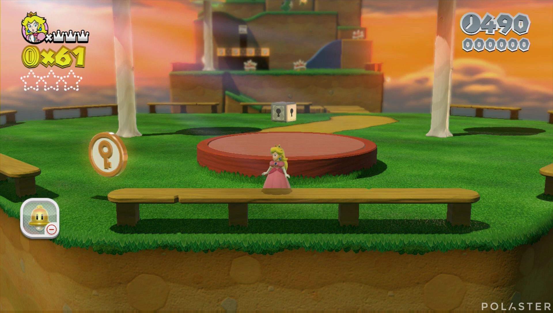 Super Mario 3D World Mundo Champiñón-2 Moneda llave 1