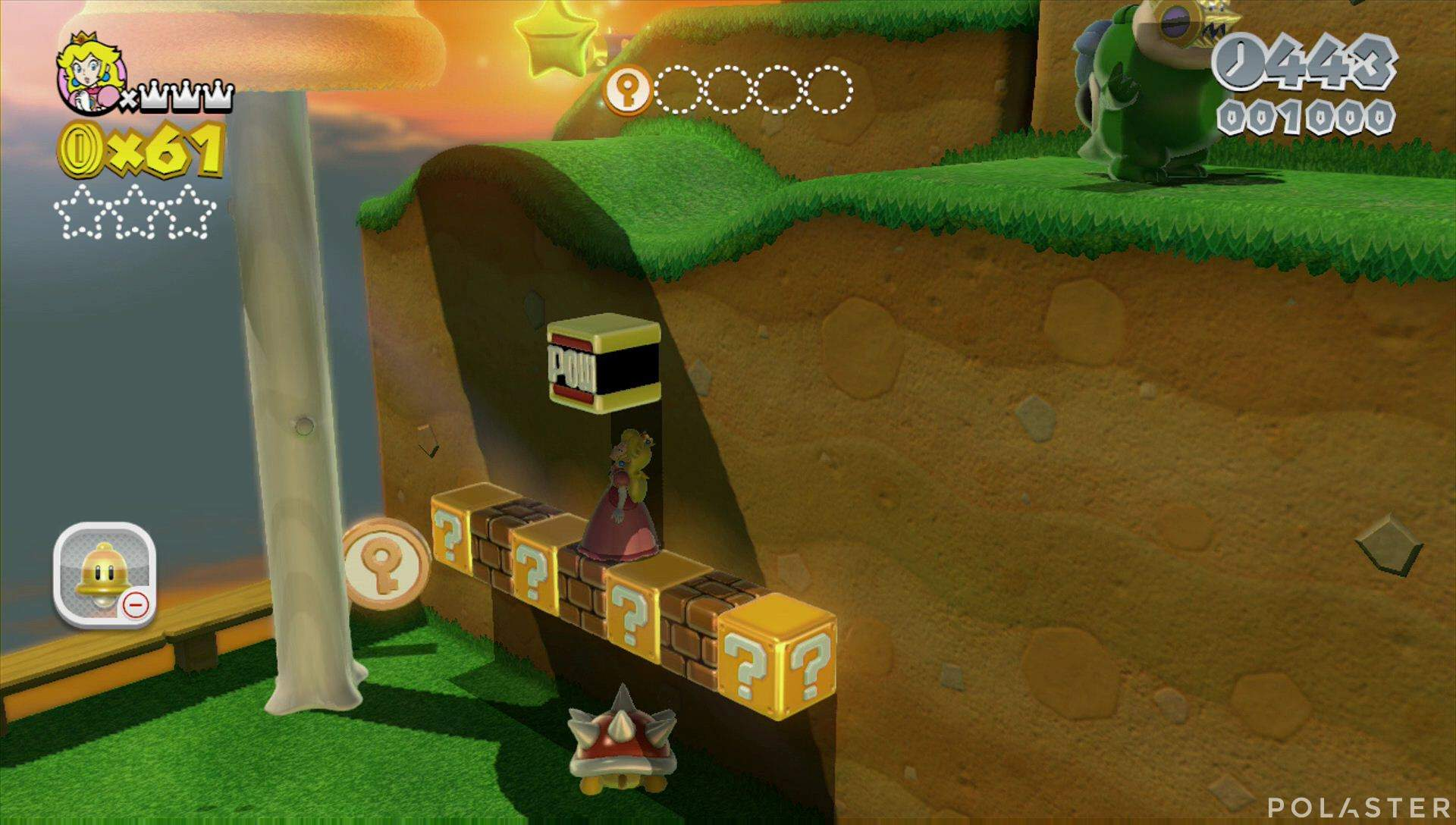 Super Mario 3D World Mundo Champiñón-2 Moneda llave 2