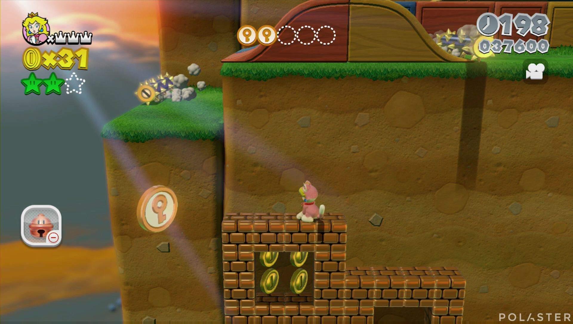 Super Mario 3D World Mundo Champiñón-2 Moneda llave 3