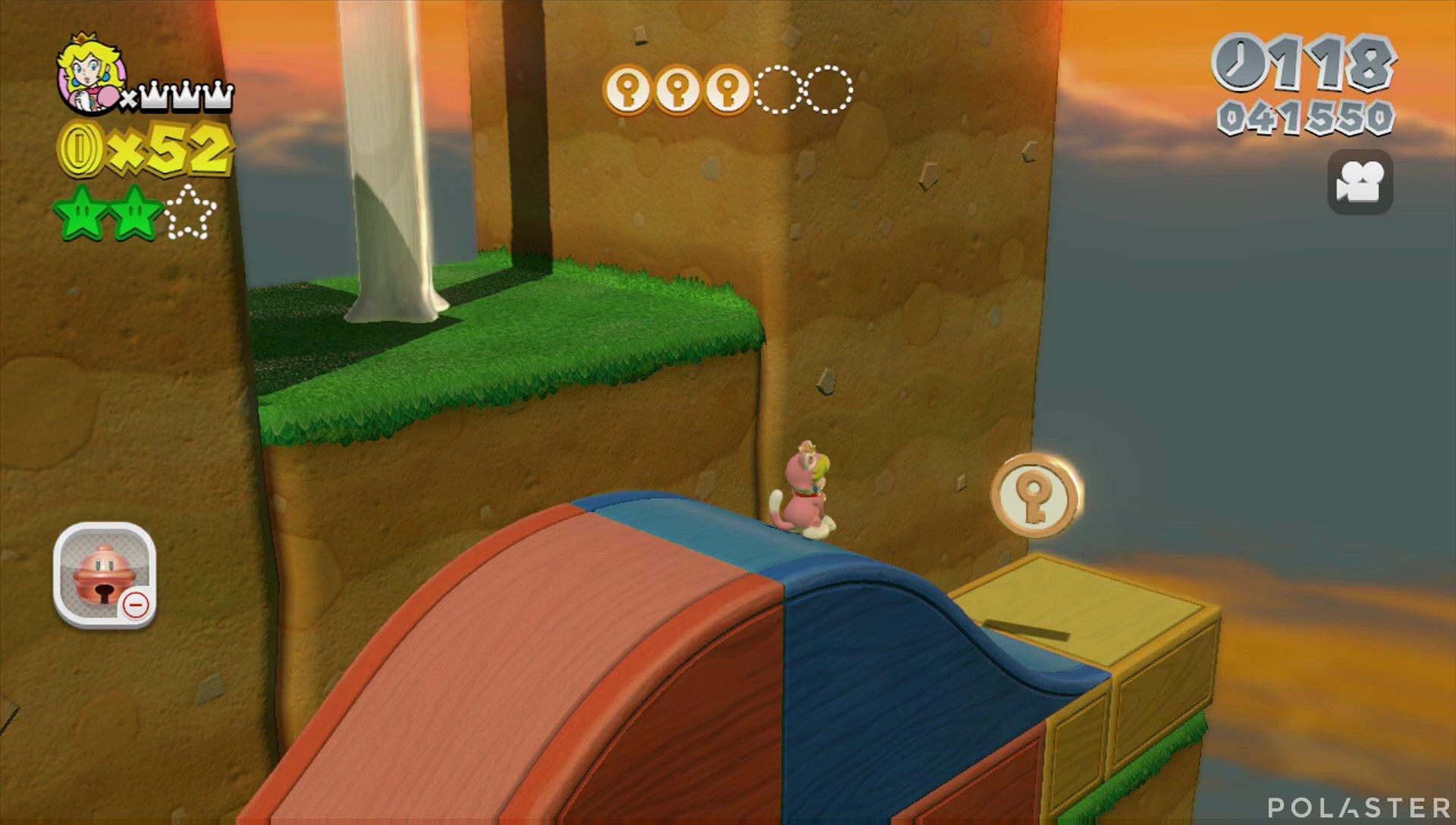 Super Mario 3D World Mundo Champiñón-2 Moneda llave 4