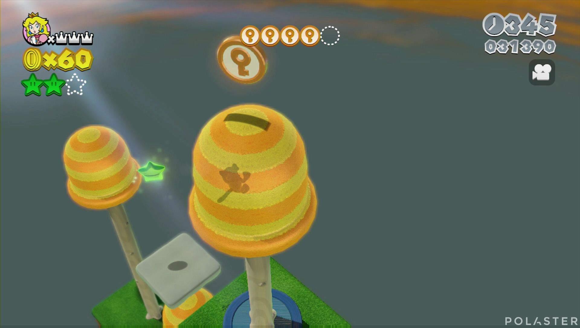 Super Mario 3D World Mundo Champiñón-2 Moneda llave 5