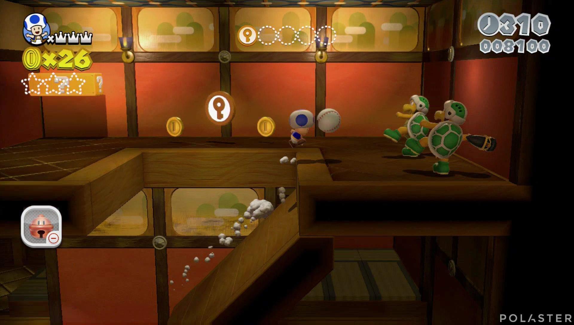 Super Mario 3D World Mundo Champiñón-5 Moneda llave 2