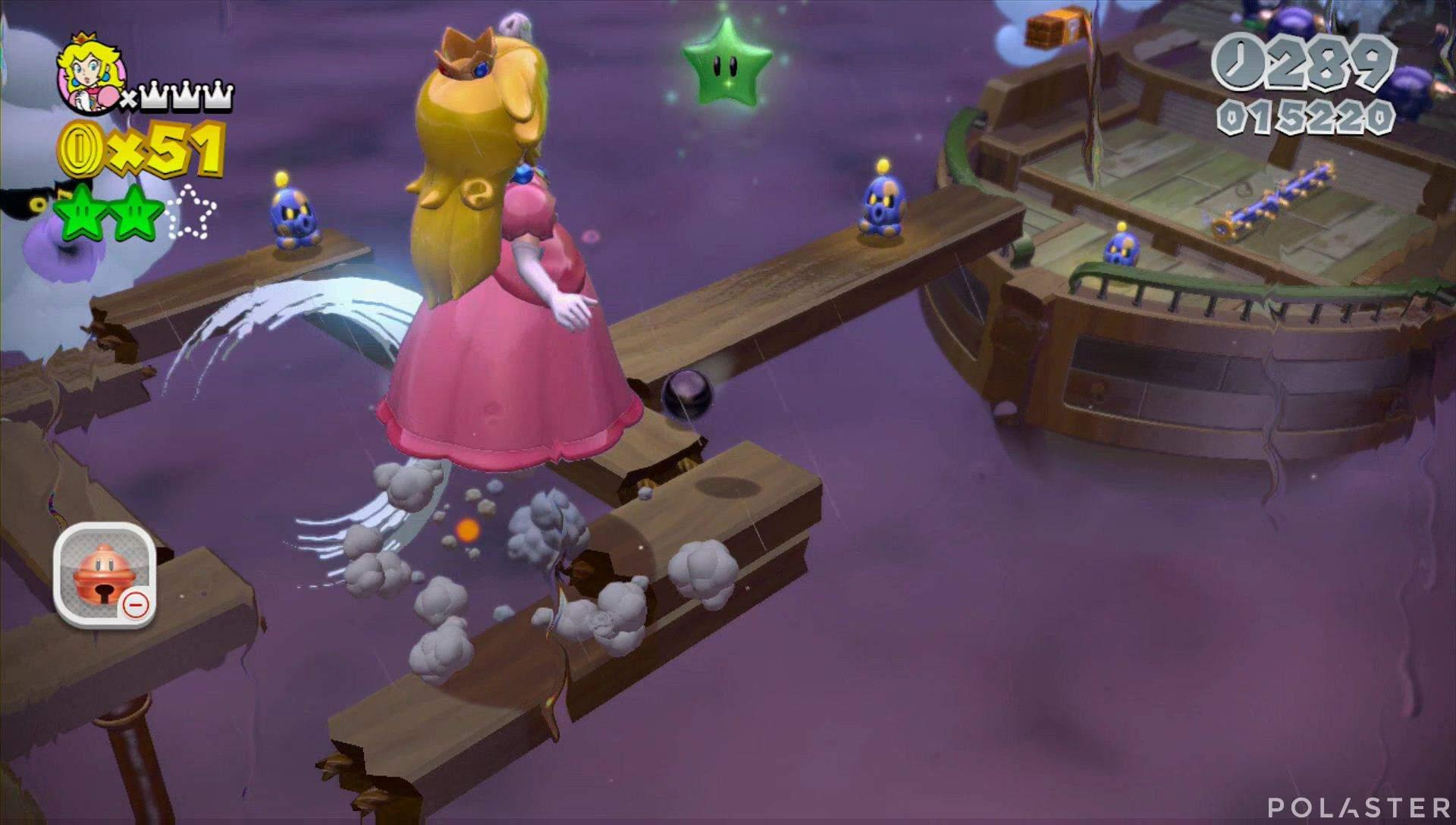 Super Mario 3D World Mundo Champiñón-6 Estrella 3