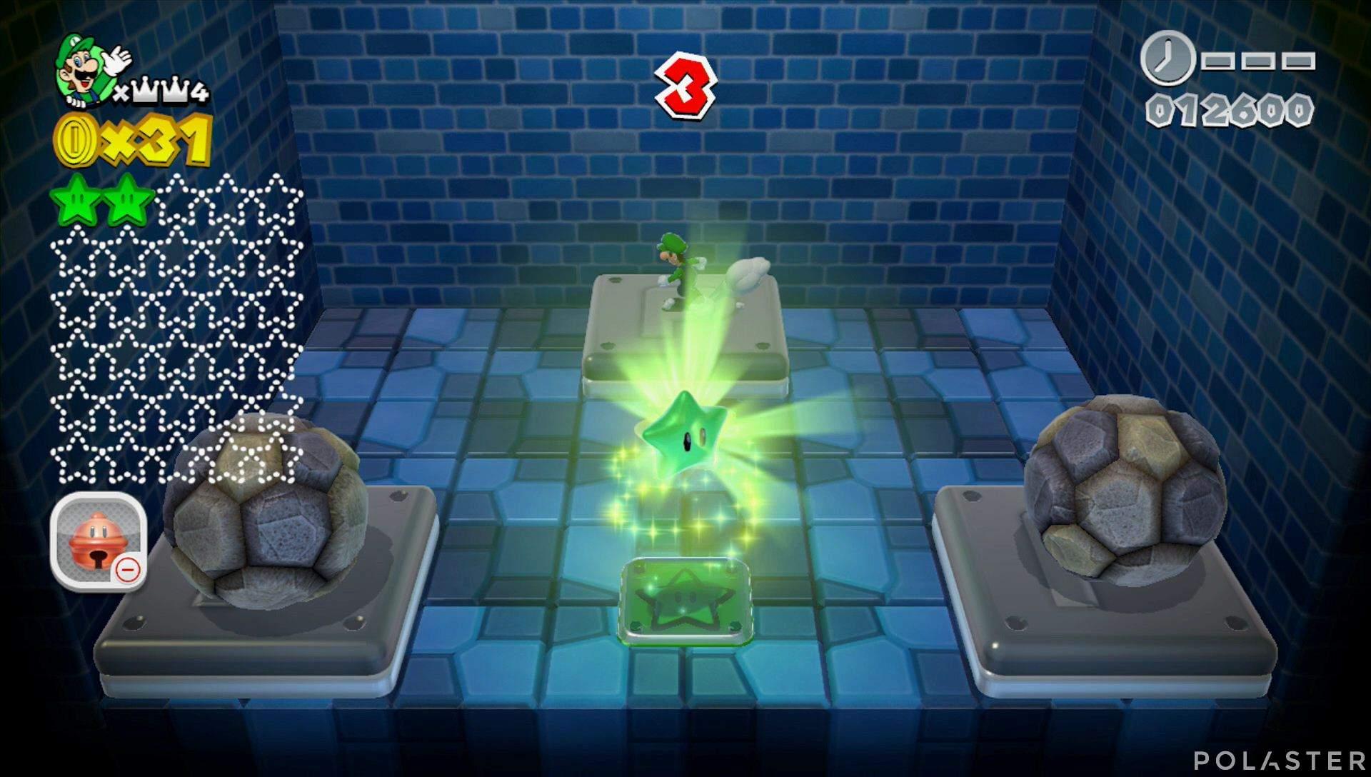 Super Mario 3D World Mundo Corona-Misterio Estrella 3