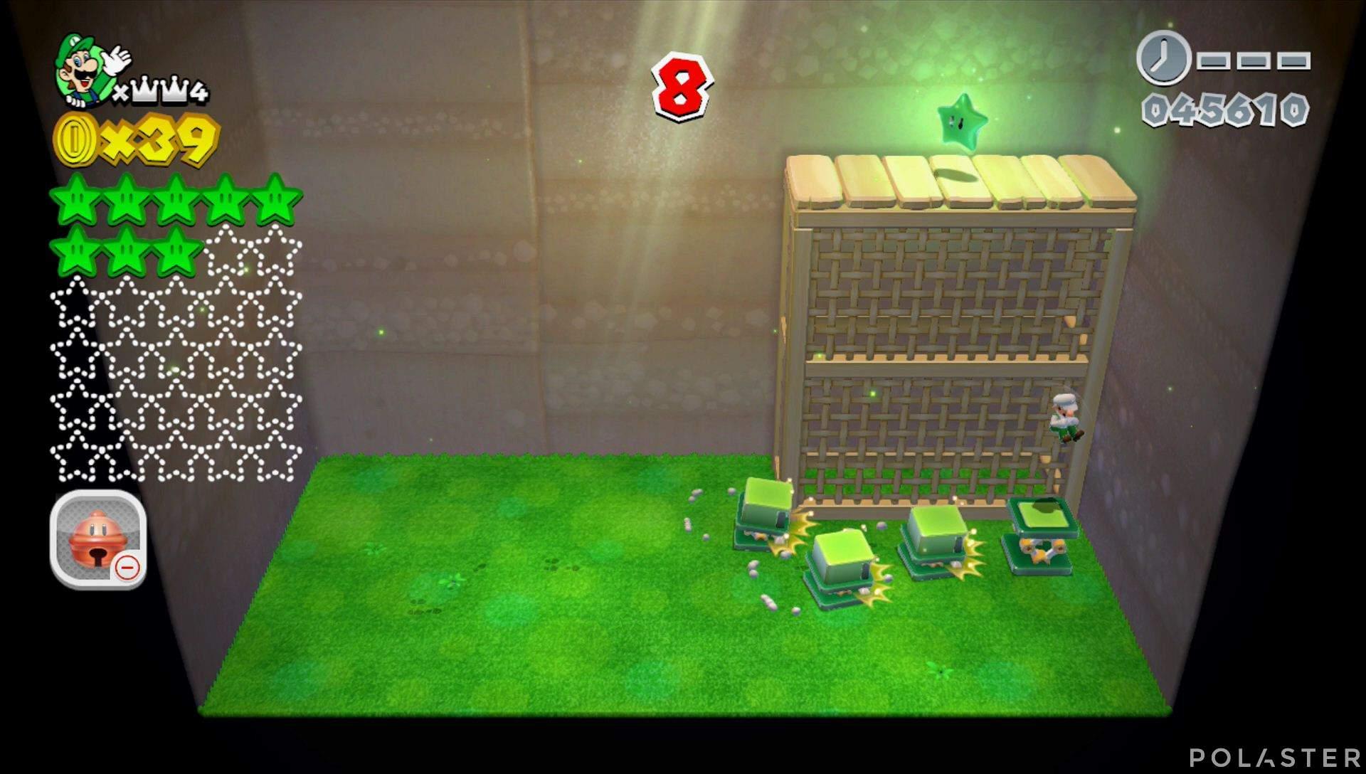 Super Mario 3D World Mundo Corona-Misterio Estrella 9