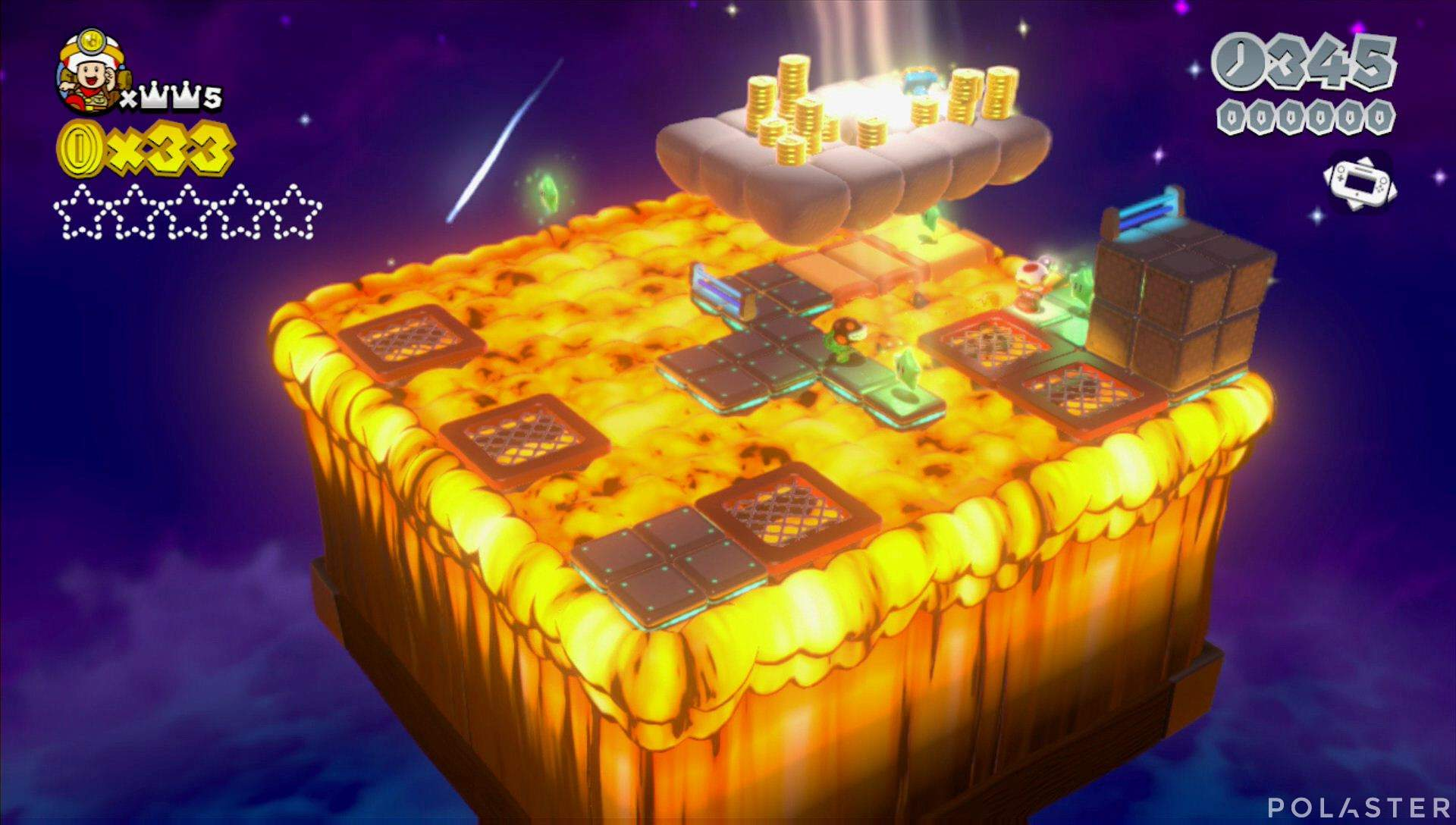 Super Mario 3D World Mundo Corona-Toad Estrella 1