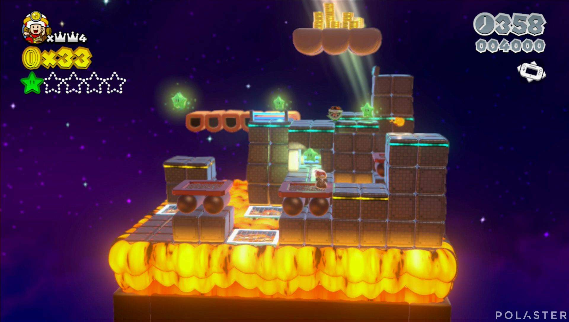 Super Mario 3D World Mundo Corona-Toad Estrella 2