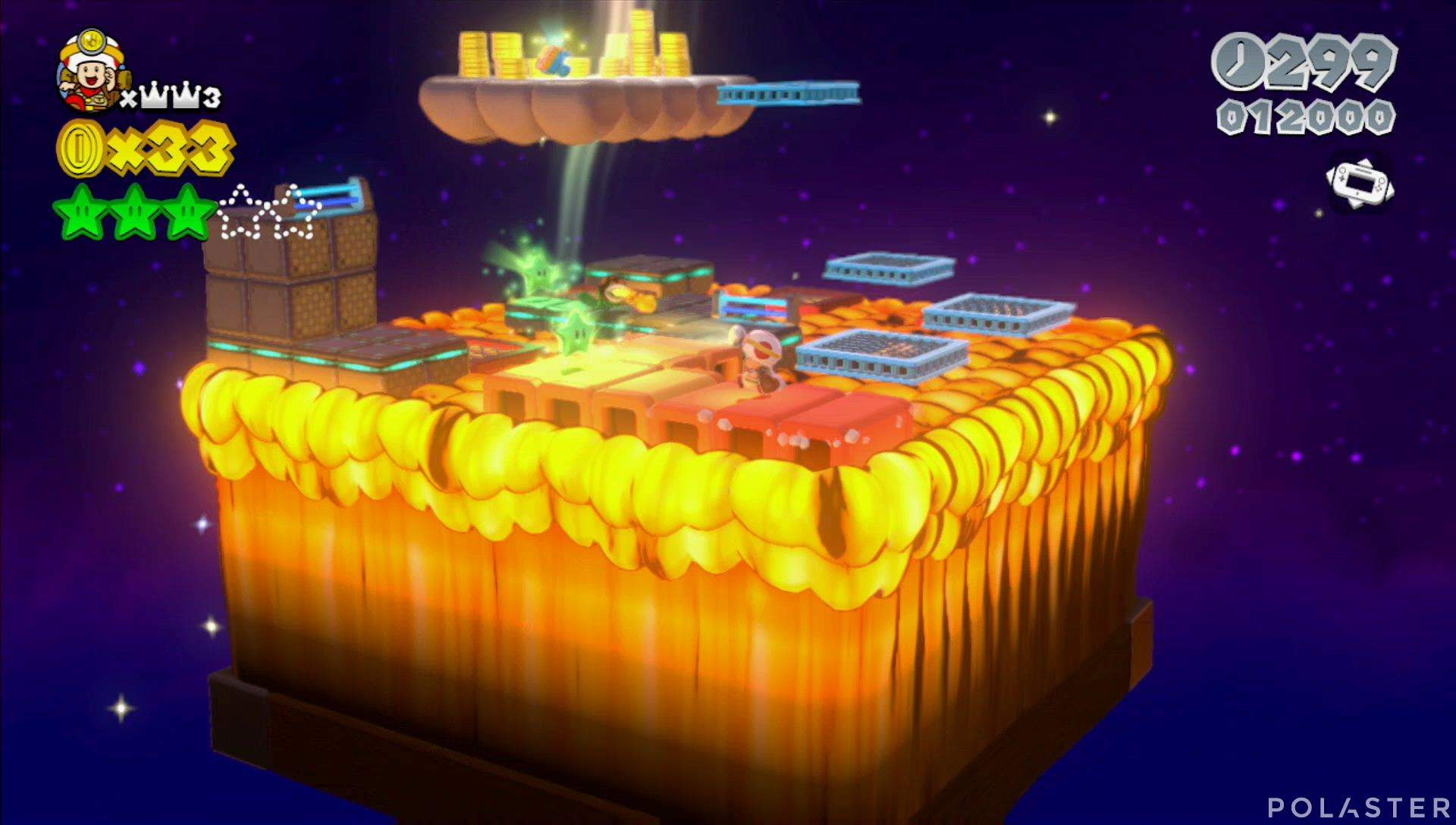 Super Mario 3D World Mundo Corona-Toad Estrella 4