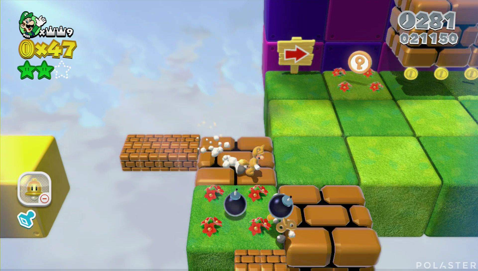 Super Mario 3D World Mundo Estrella-5 Moneda llave 1