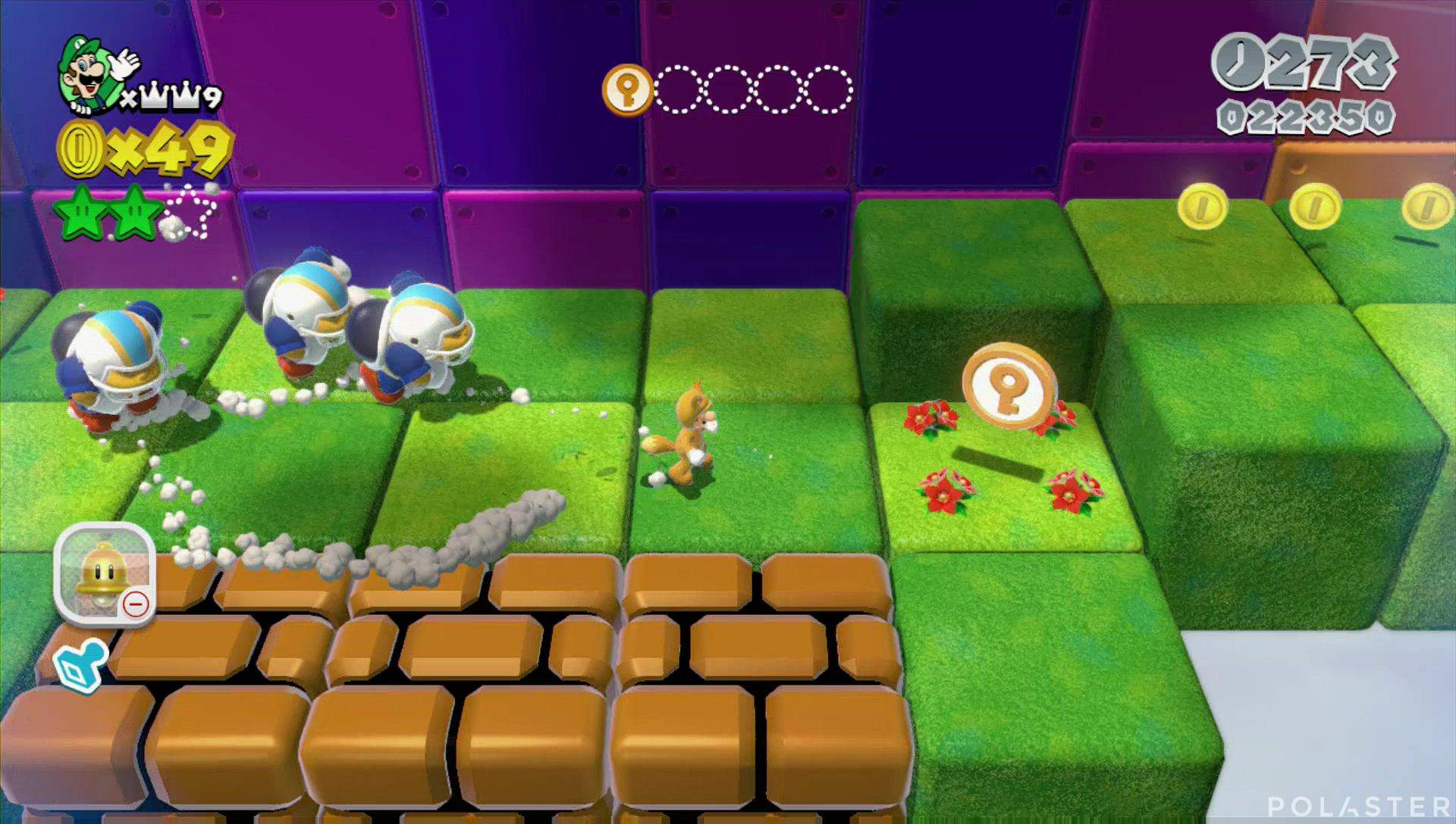 Super Mario 3D World Mundo Estrella-5 Moneda llave 2