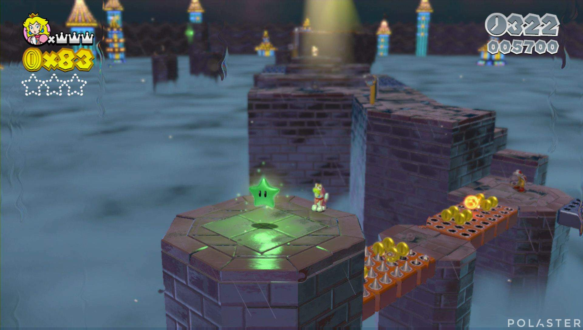 Super Mario 3D World Mundo Flor-11 Estrella 1