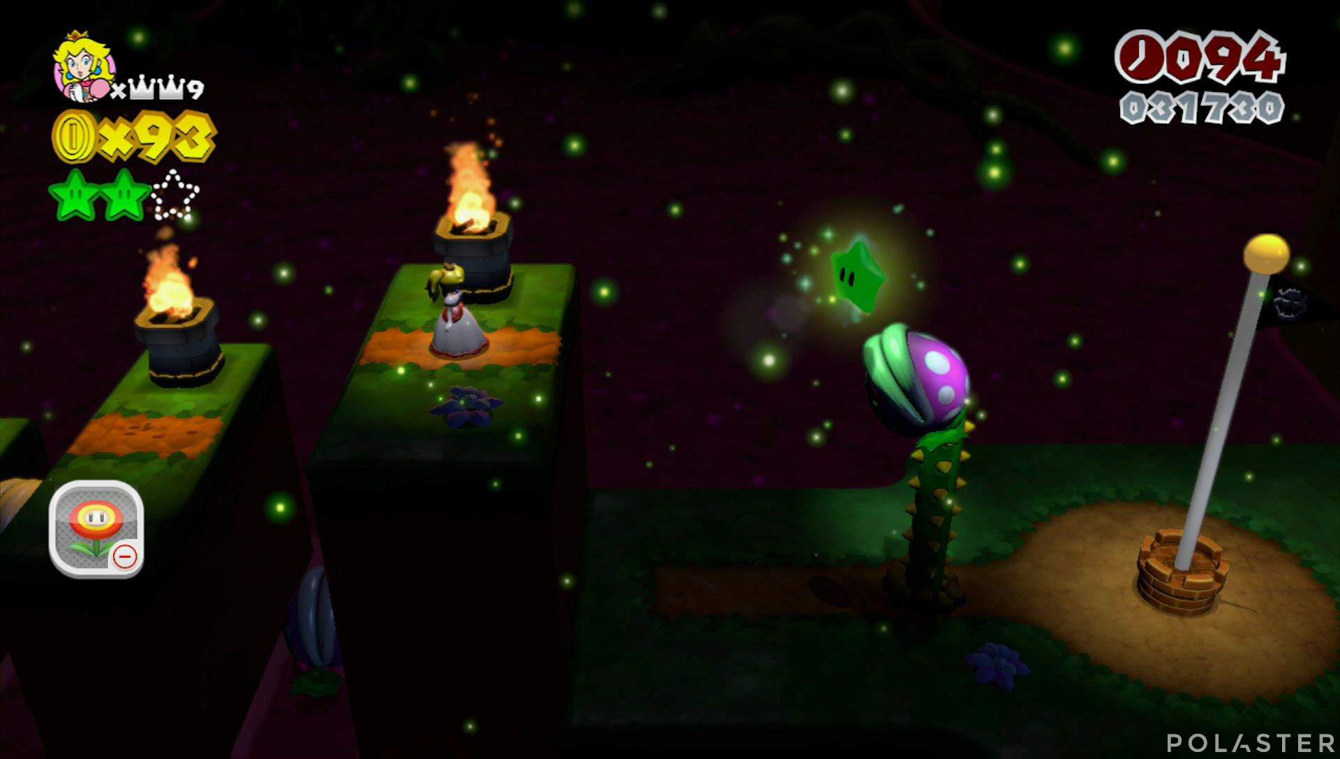 Super Mario 3D World Mundo Flor-3 Estrella 3