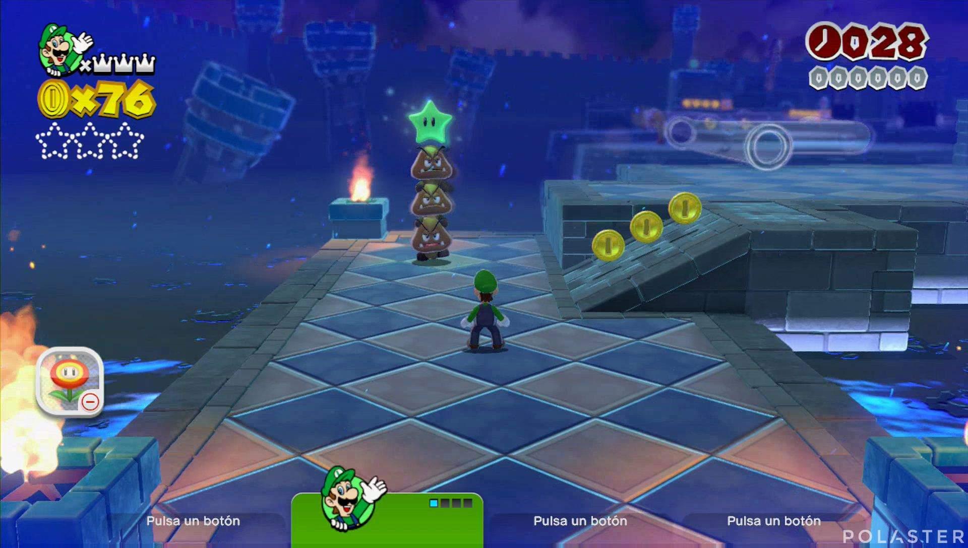Super Mario 3D World Mundo Flor-4 Estrella 1
