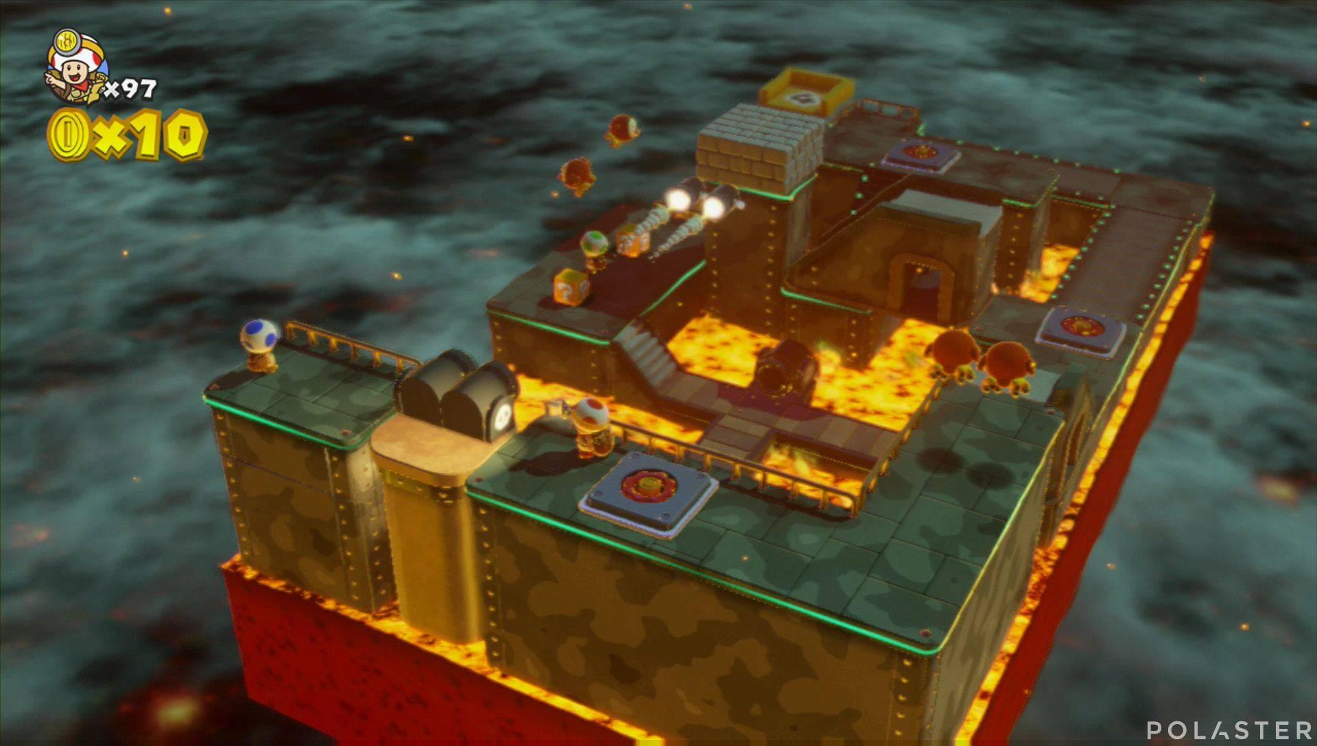 Captain Toad: Treasure Tracker Extra: ¡Cuadrilla, a la base giratoria! Toad azul